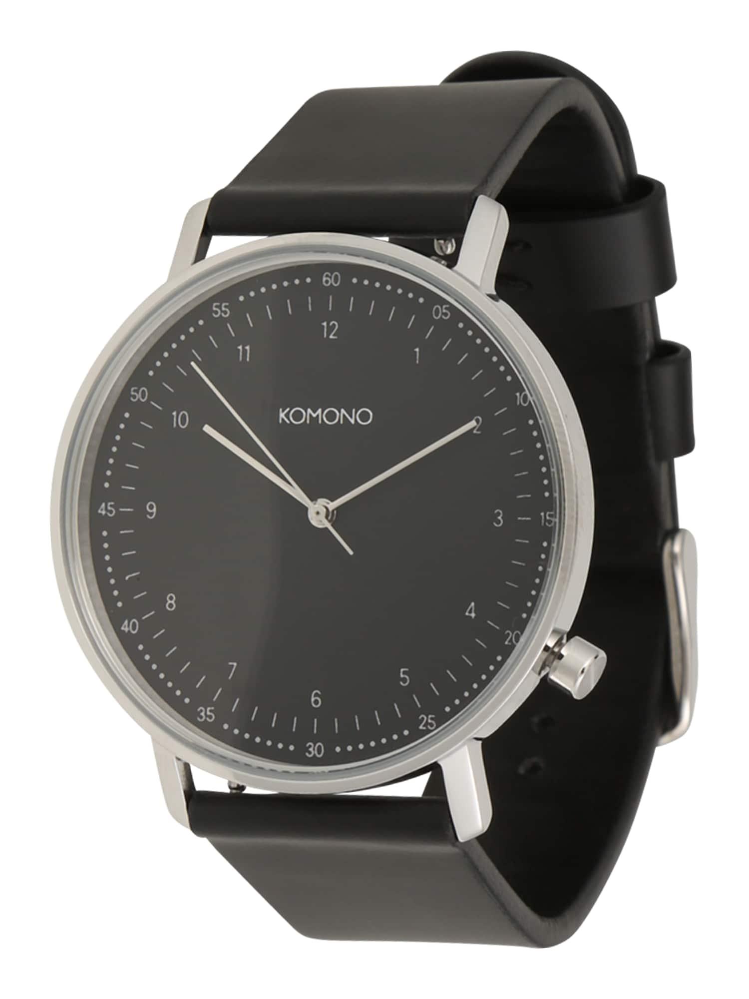 Analogové hodinky Lewis černá Komono