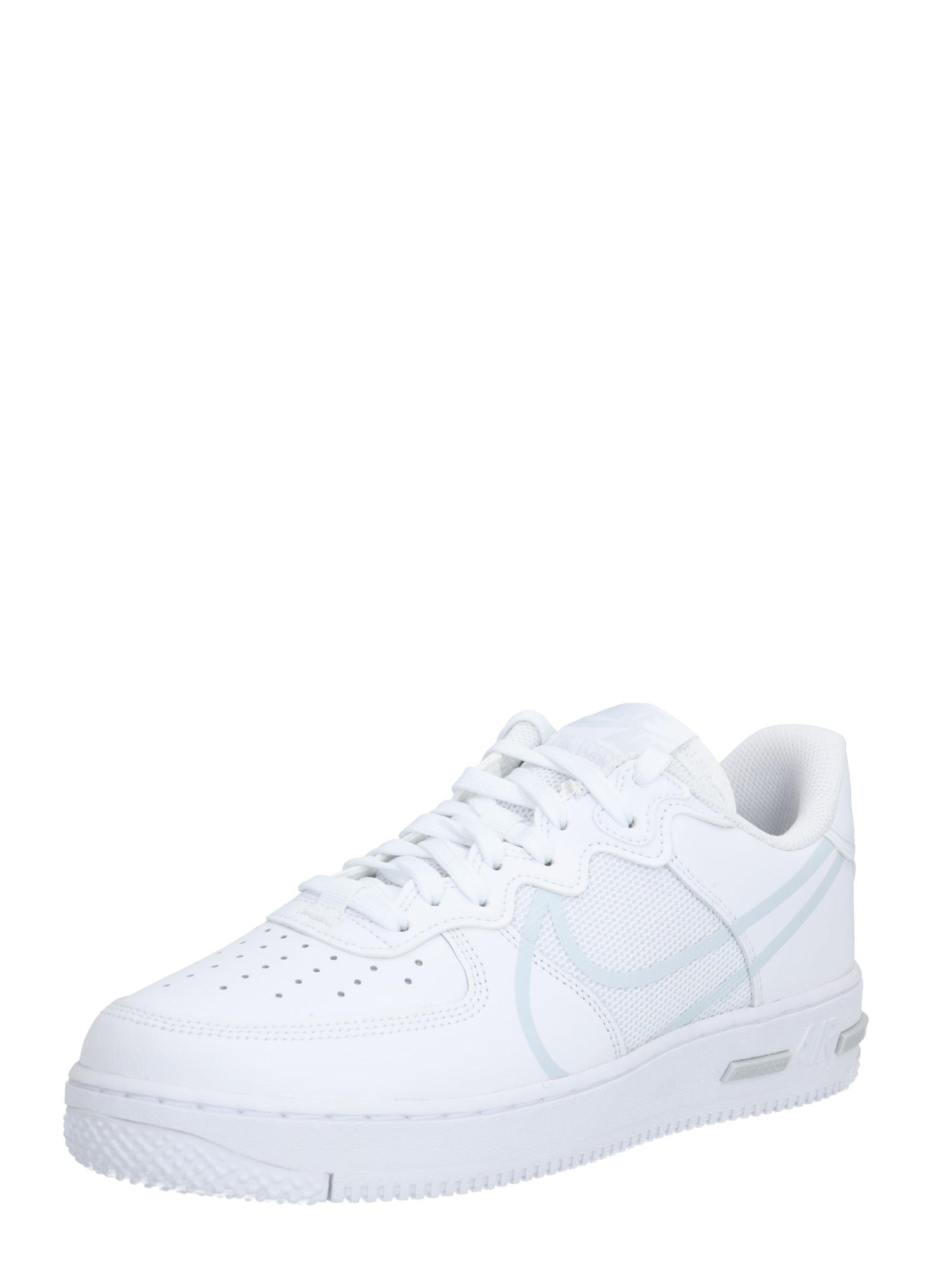 Nike Sportswear Nízke tenisky 'Nike Air Force 1 React'  platinová / biela