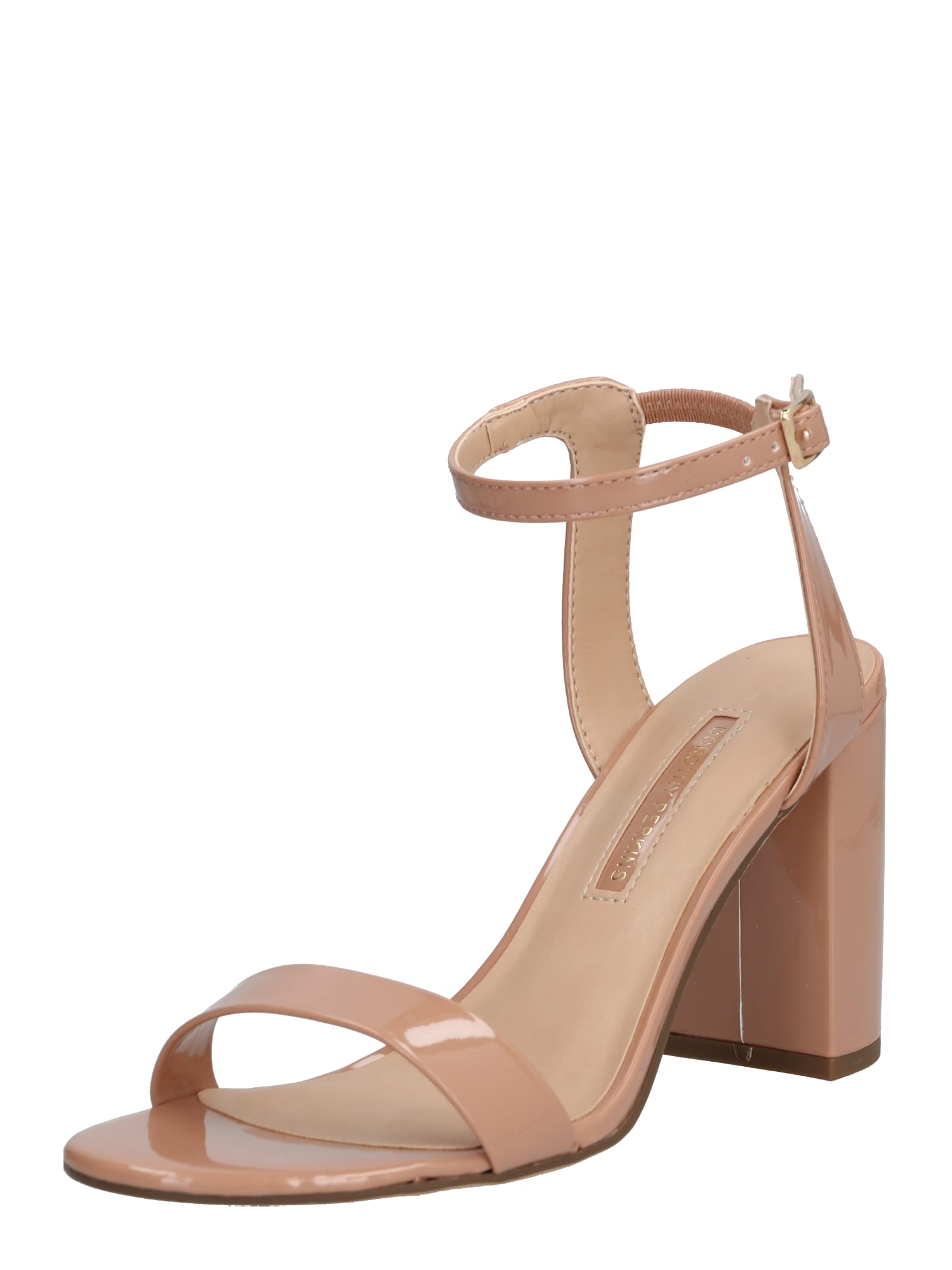 Dorothy Perkins Remienkové sandále 'Shimmer' Heeled Sandal'  ružová