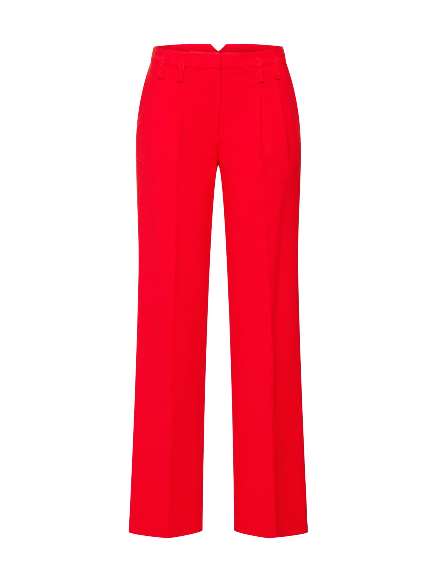 Kalhoty se sklady v pase Gain červená Another Label