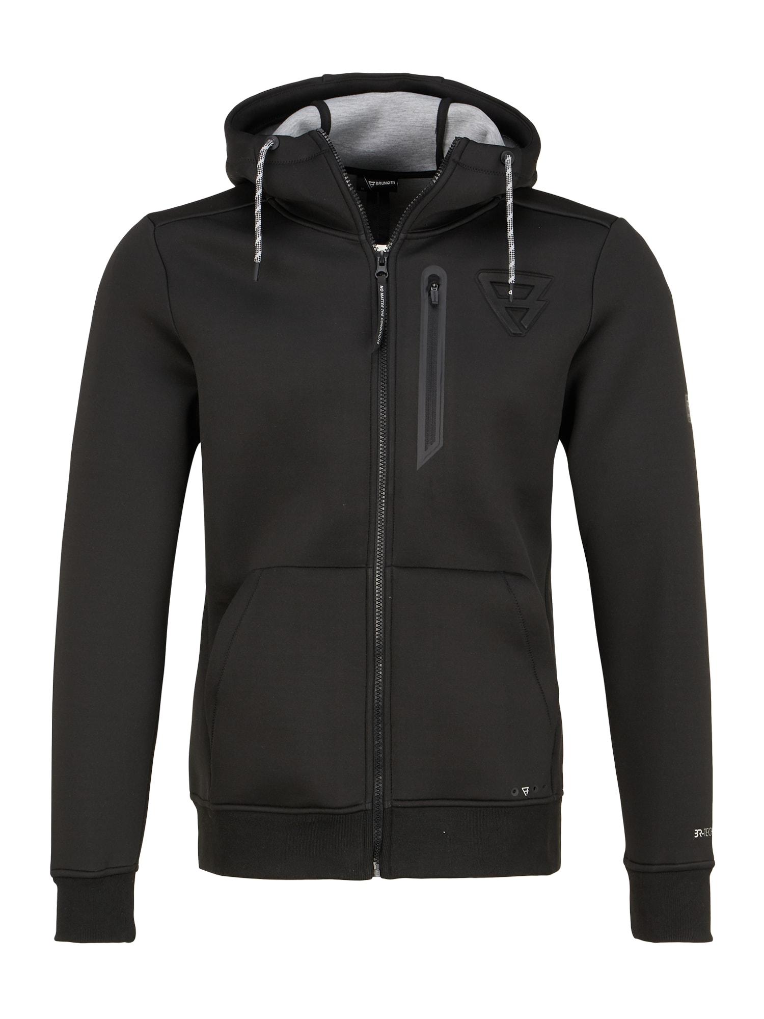 BRUNOTTI Sportinis džemperis 'Staghorn' juoda
