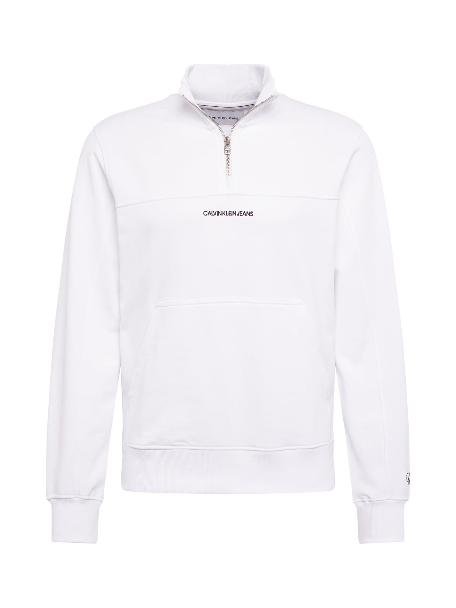 Calvin Klein Jeans Megztinis be užsegimo balta / juoda