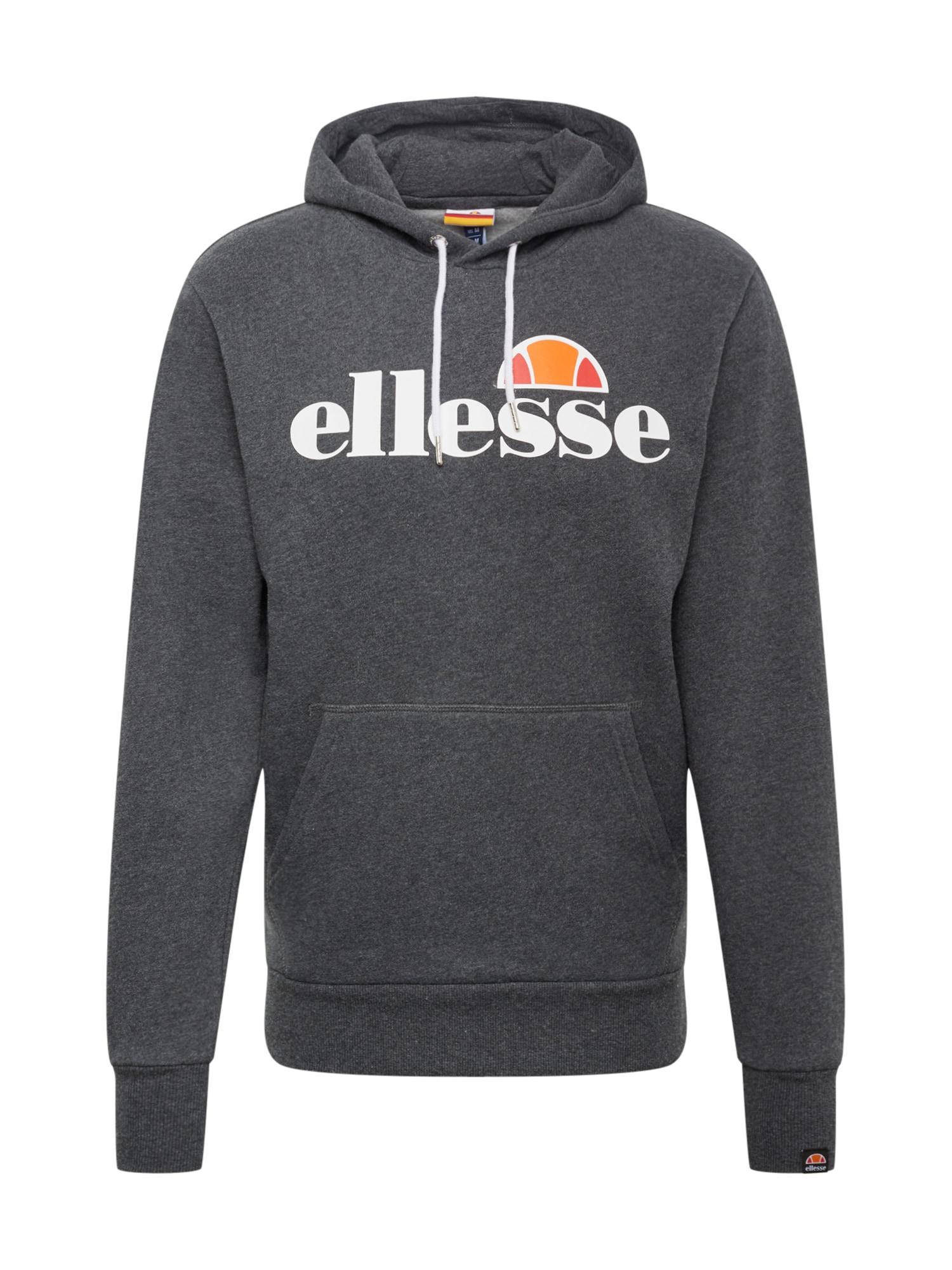 ELLESSE Mikina 'GOTTERO'  bílá / oranžová / malinová / šedý melír
