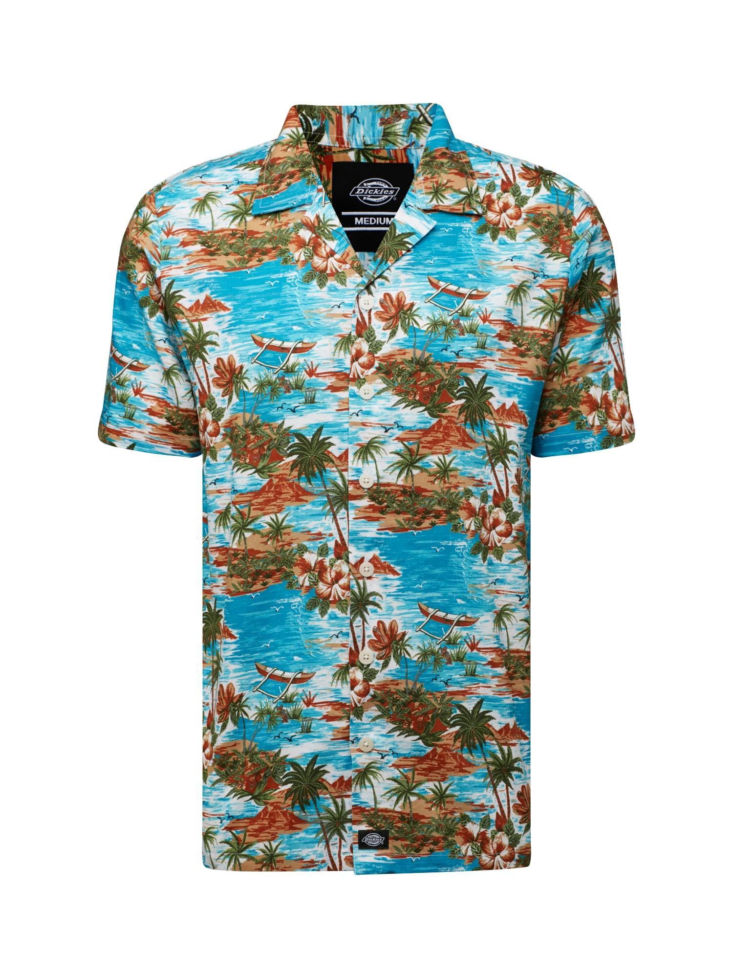 Košile Blossvale světlemodrá hnědá mix barev DICKIES