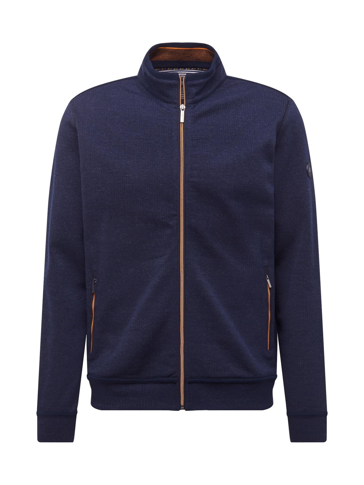 bugatti Megztinis be užsegimo 'Wirk' tamsiai mėlyna