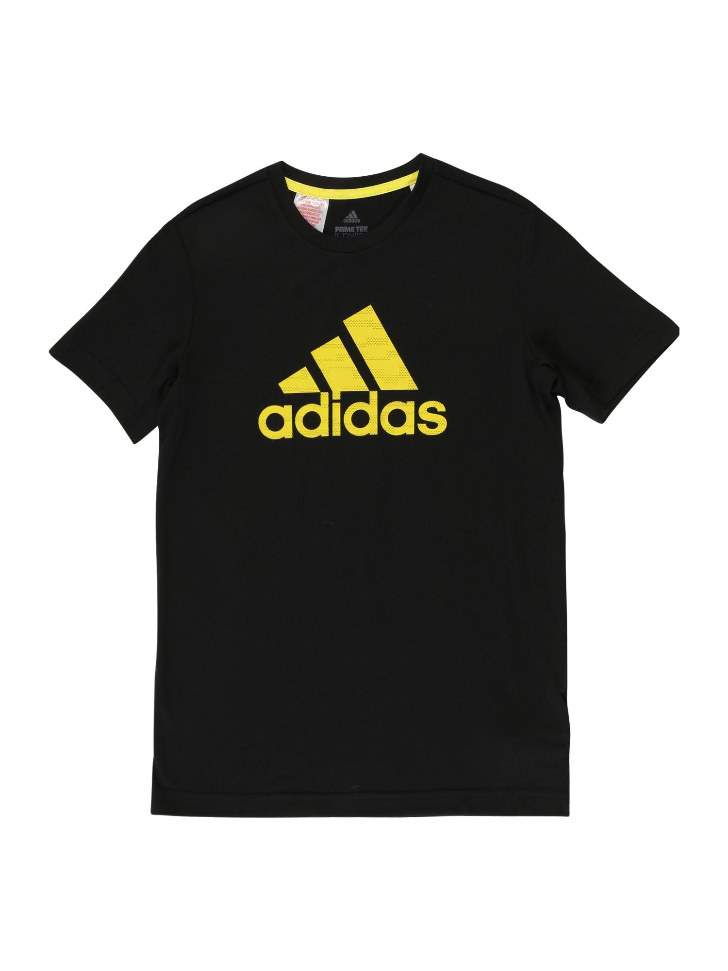 ADIDAS PERFORMANCE Sportiniai marškinėliai 'JB TR PRIME TEE' geltona / juoda