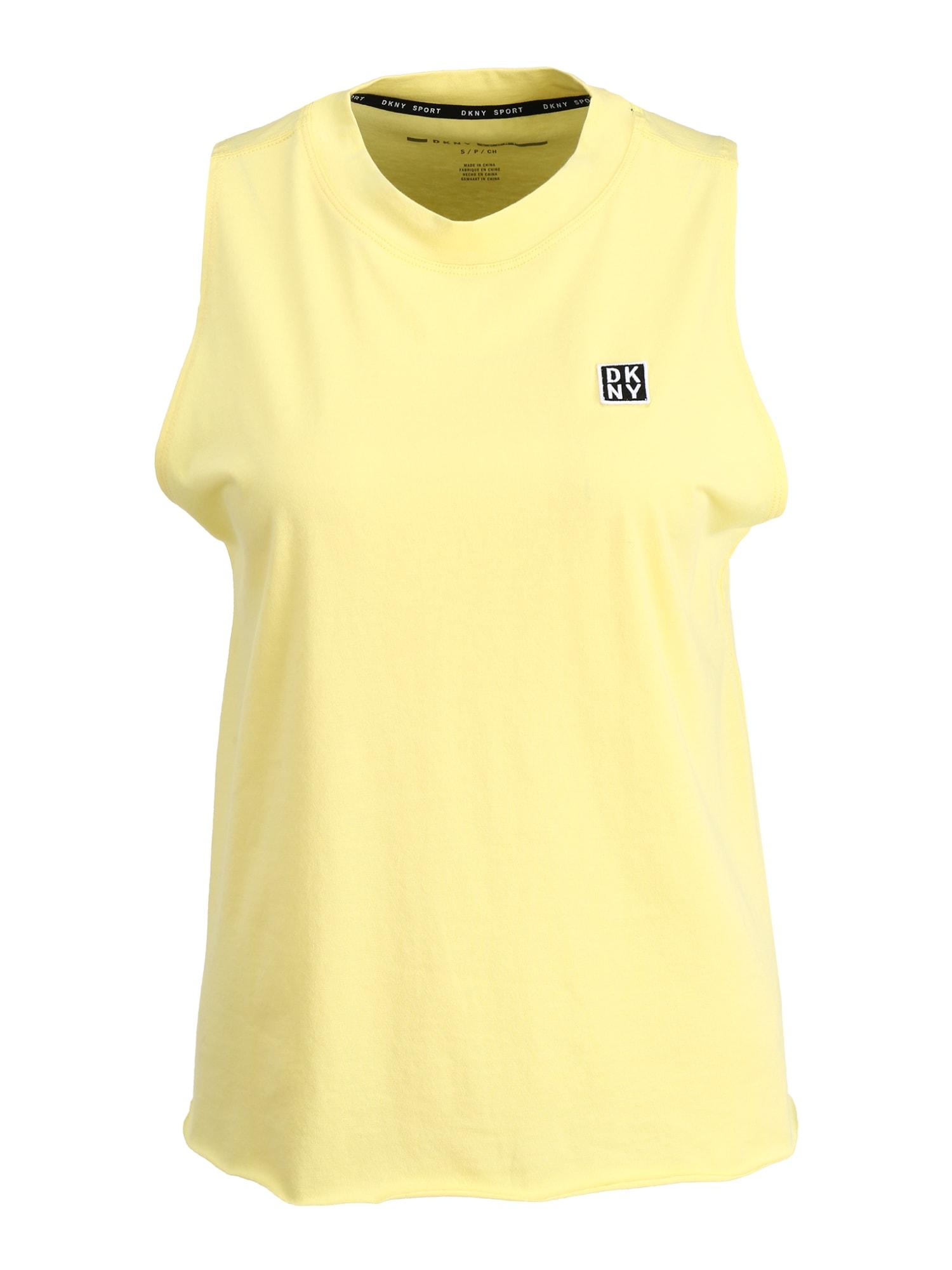 DKNY Sport Sportiniai marškinėliai be rankovių geltona / juoda