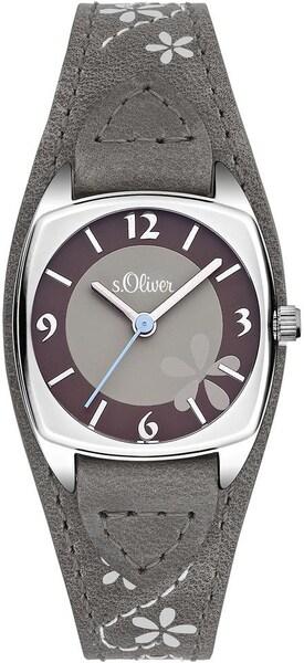Uhren für Frauen - S.Oliver RED LABEL Quarzuhr 'SO 3386 LQ' brokat dunkelgrau beere silber  - Onlineshop ABOUT YOU