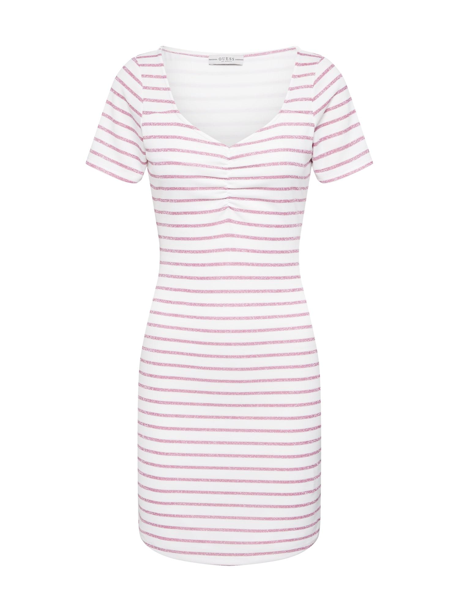 GUESS Suknelė 'ENRIQUETA DRESS' rožinė / balta