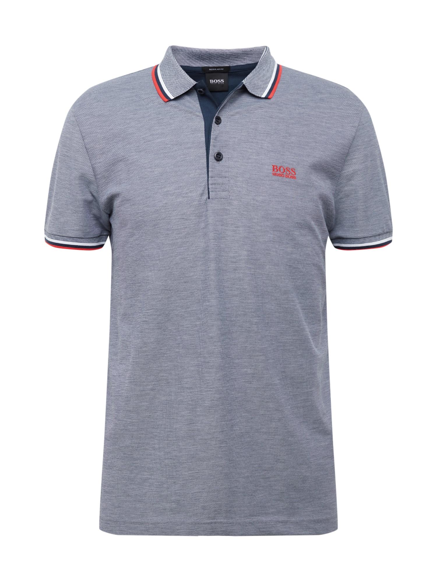 BOSS ATHLEISURE Marškinėliai 'Paddy' margai mėlyna
