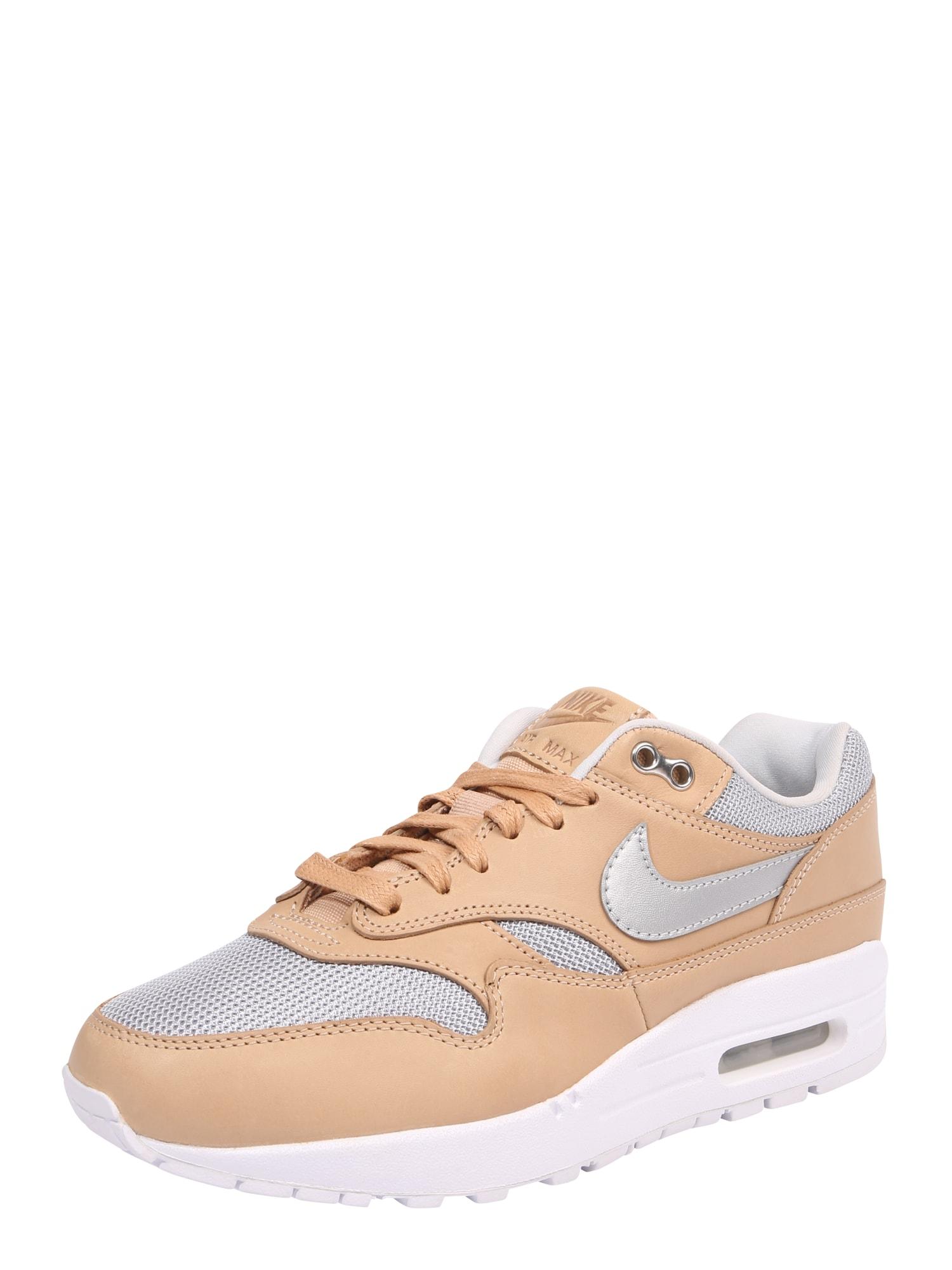Nike Sportswear Nízke tenisky 'AIR MAX 1 SE PRM'  svetlobéžová / strieborná