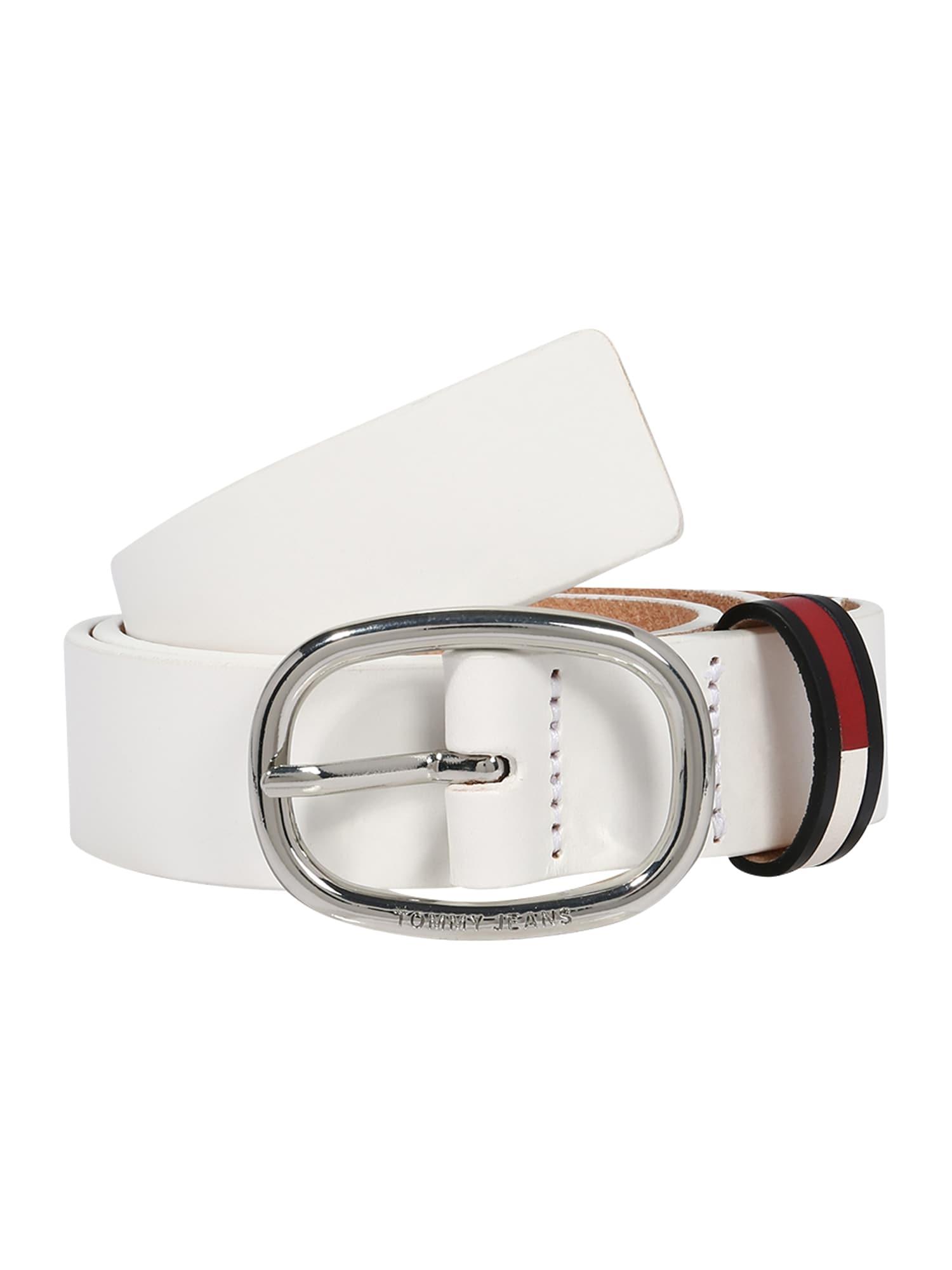 Tommy Jeans Opasky 'INLAY'  biela / červené / tmavomodrá