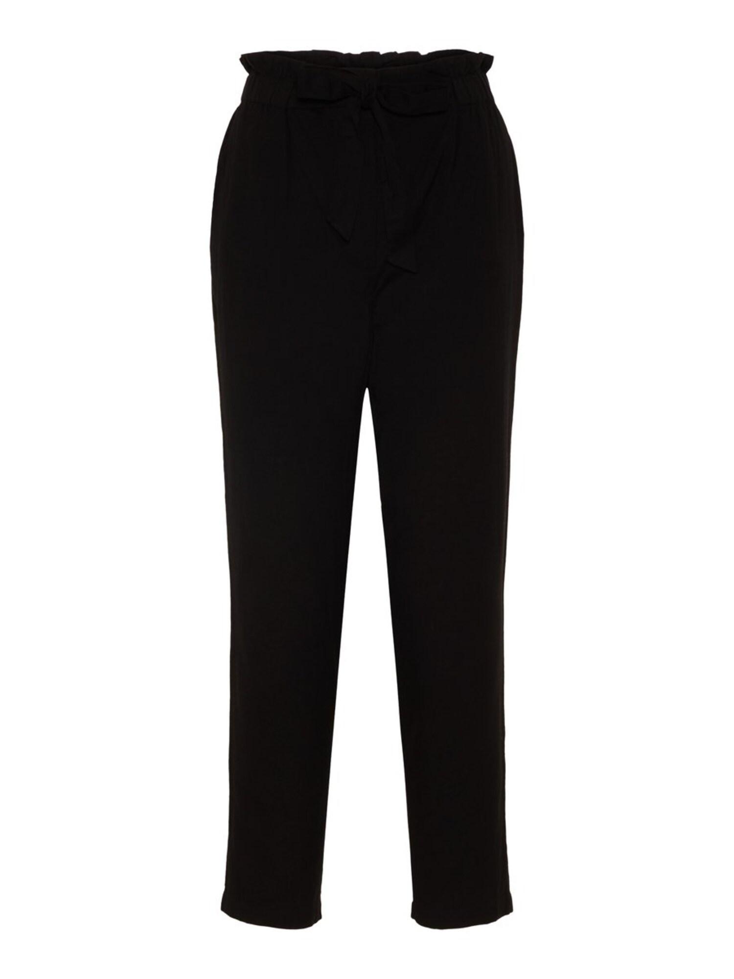 Kalhoty Kelsie Paperbag černá Noisy May
