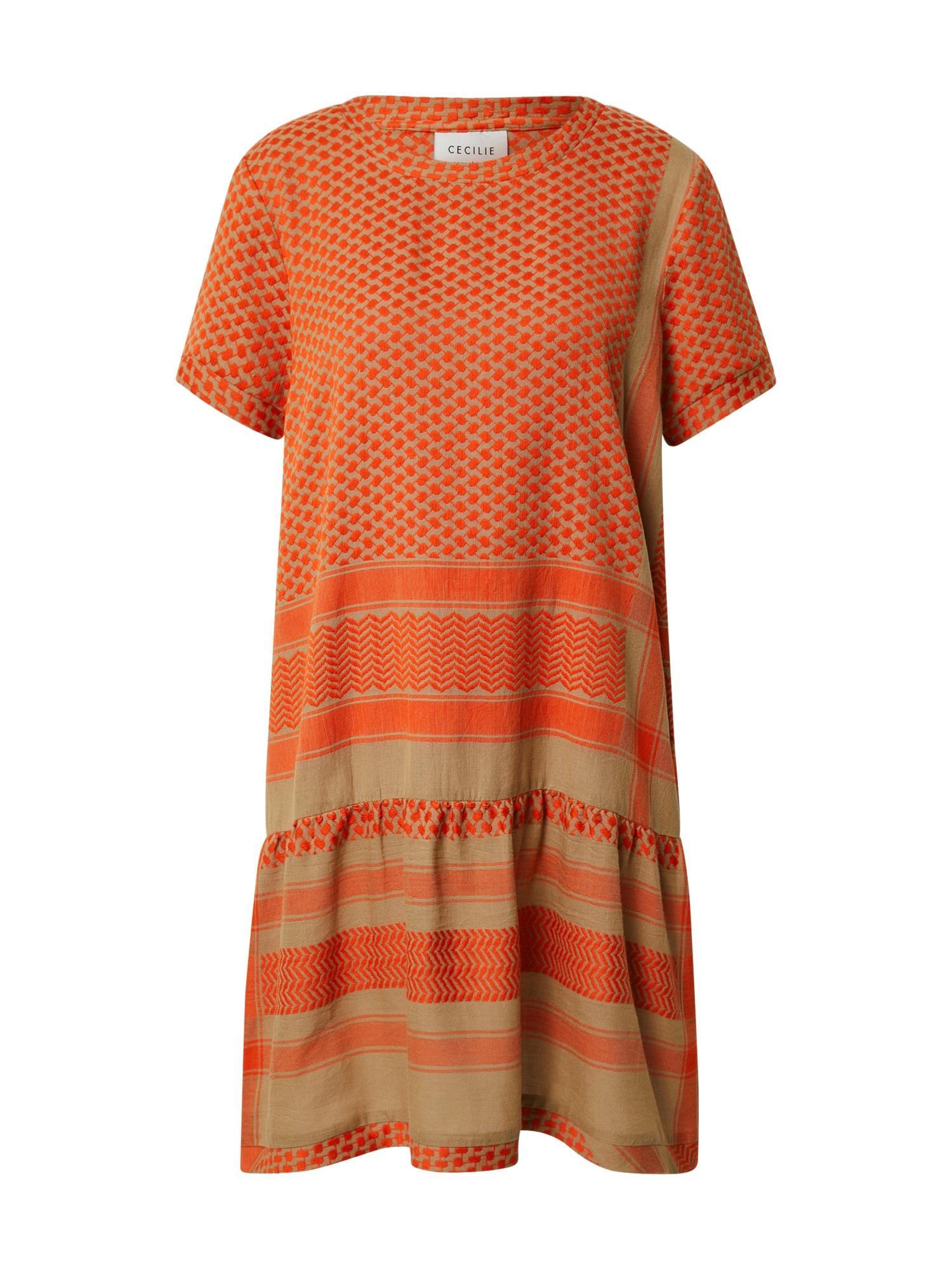 Cecilie Copenhagen Suknelė oranžinė / alyvuogių spalva