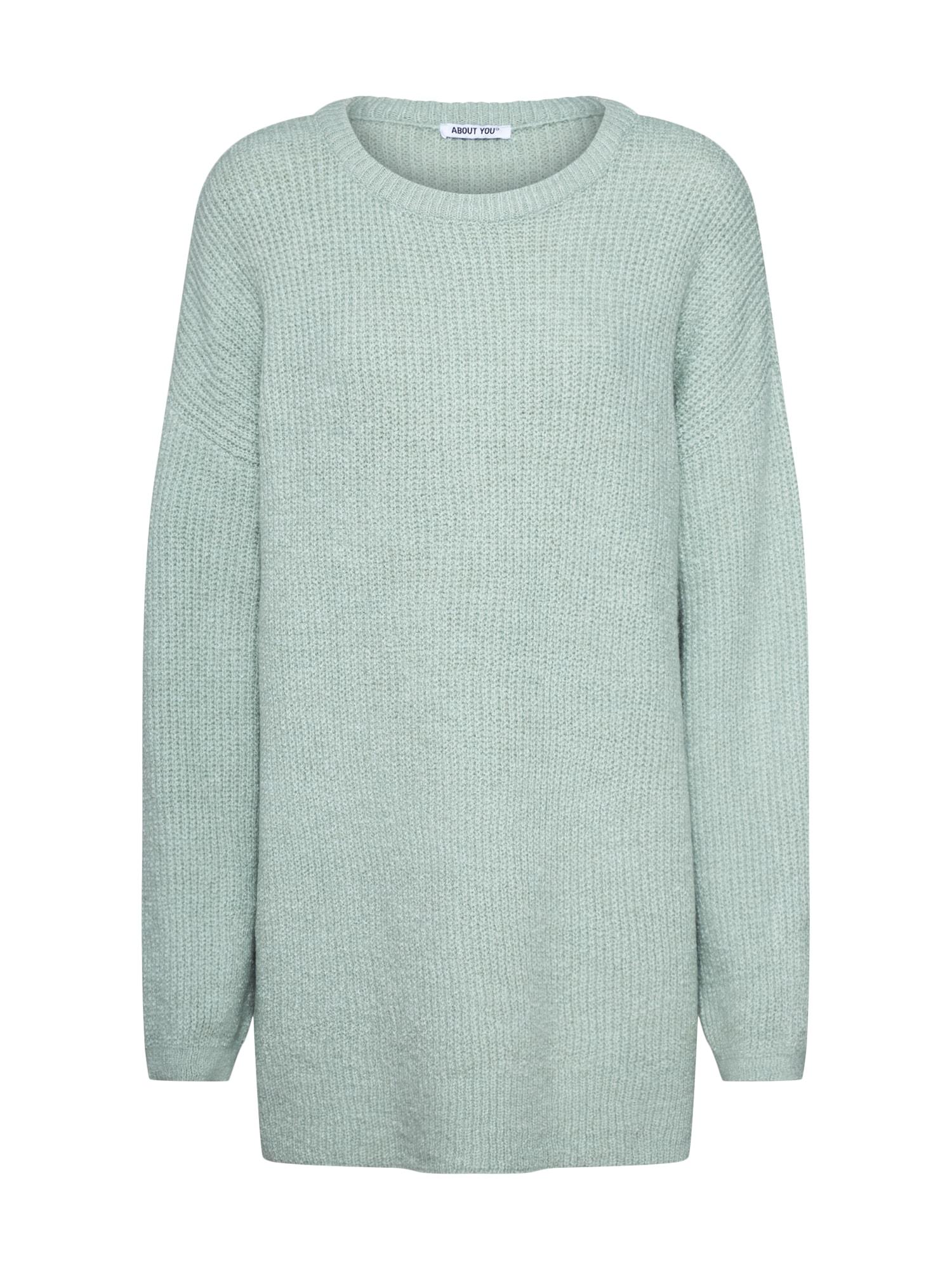 ABOUT YOU Laisvas megztinis 'Mina' mėtų spalva