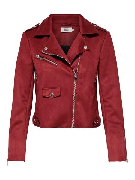 Jacken für Frauen - ONLY Wildlederimitat Jacke rot  - Onlineshop ABOUT YOU