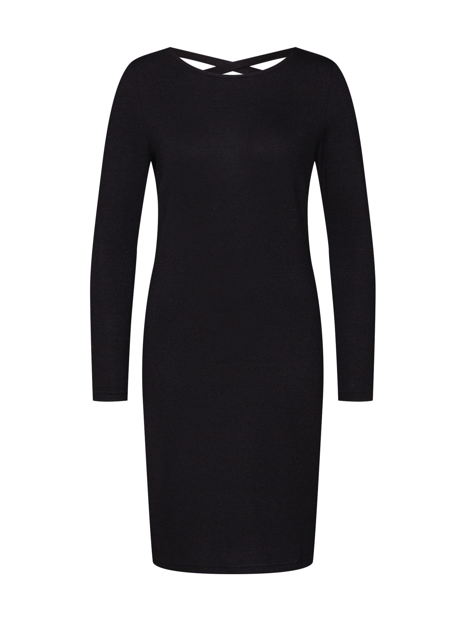 Úpletové šaty EMILY černá JACQUELINE De YONG