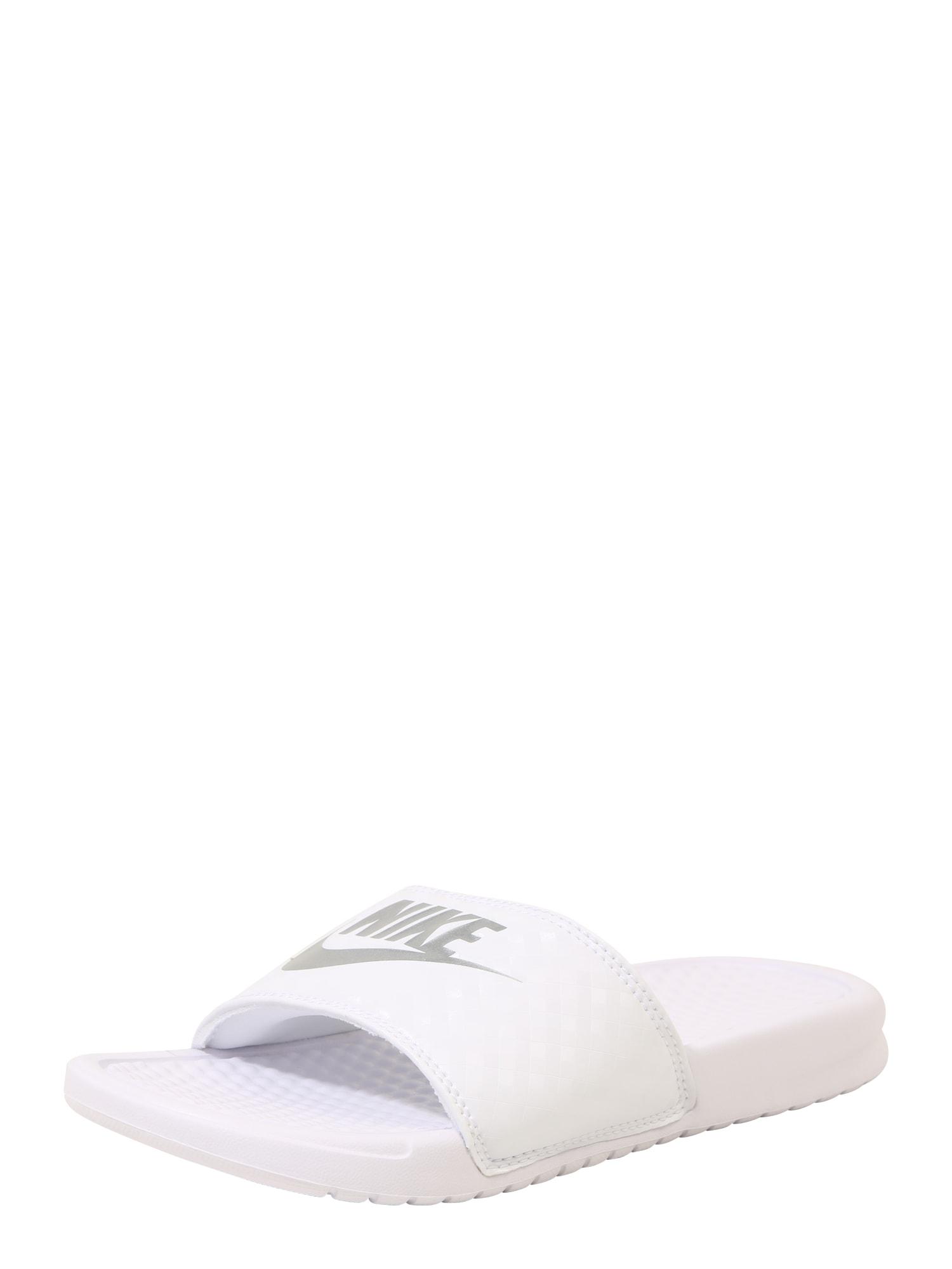 Nike Sportswear Pantofle 'Benassi Just Do It'  bílá