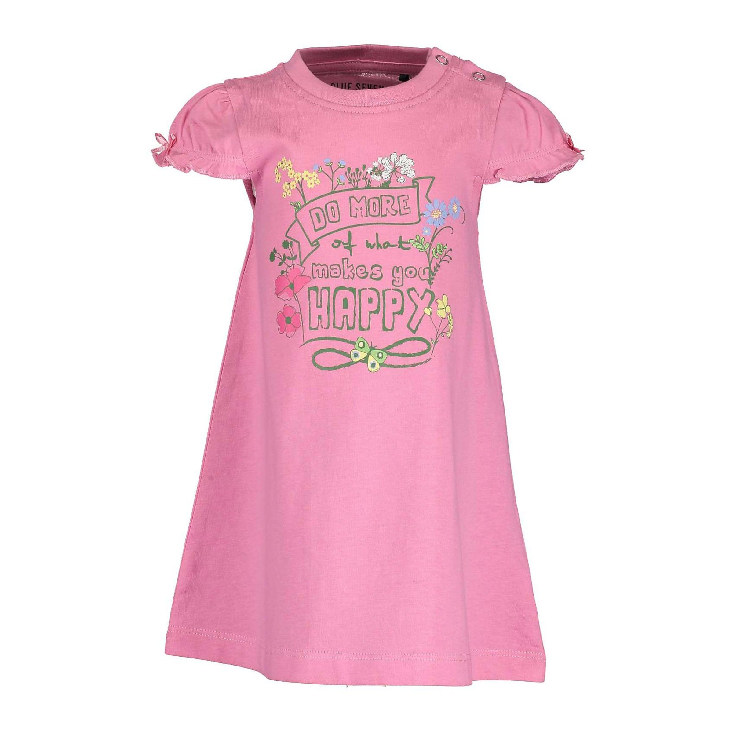 Kinder,  Mädchen,  Kinder BLUE SEVEN Kleid blau, grau, pink, weiß | 04055852421400