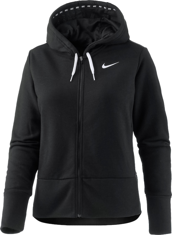 nike 39 dry 39 sweatjacke damen in schwarz about you. Black Bedroom Furniture Sets. Home Design Ideas