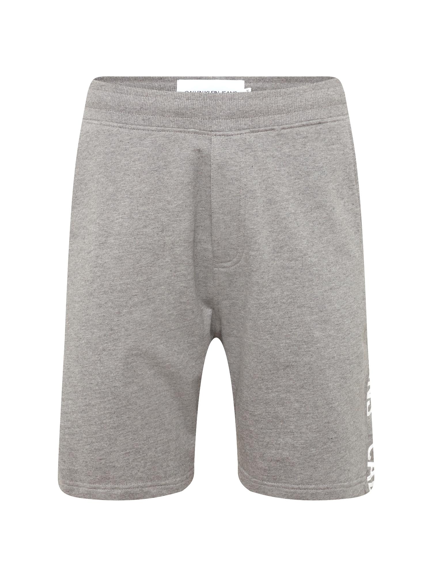 Kalhoty SIDE INSTITUTIONAL SHORT šedý melír Calvin Klein Jeans