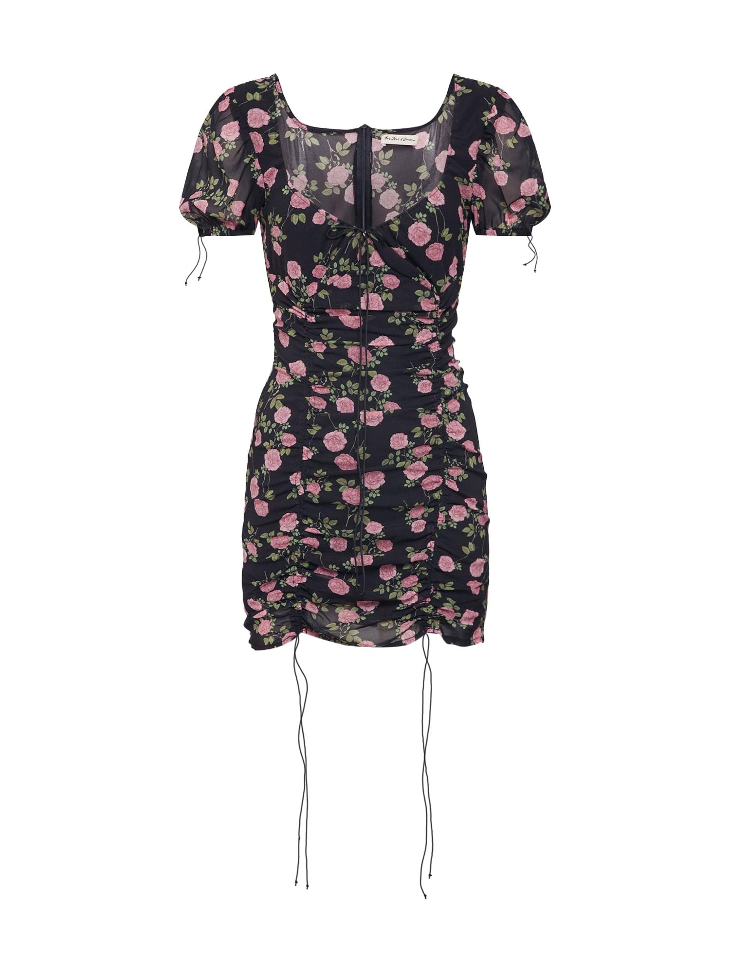 Letní šaty STRUDEL FLORAL mix barev černá For Love & Lemons