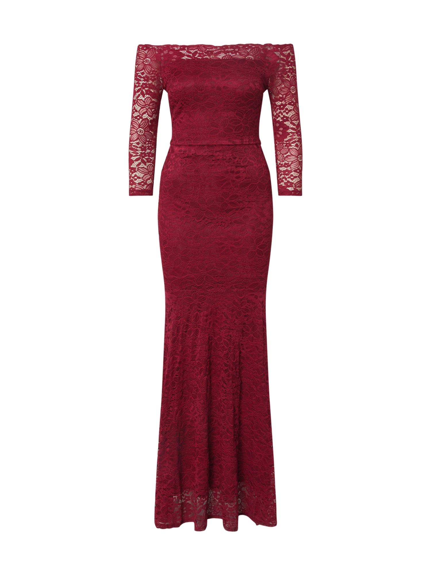 WAL G. Vakarinė suknelė vyno raudona spalva