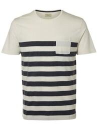 SELECTED HOMME Herren O-Ausschnitt-T-Shirt blau,weiß | 05713440525327