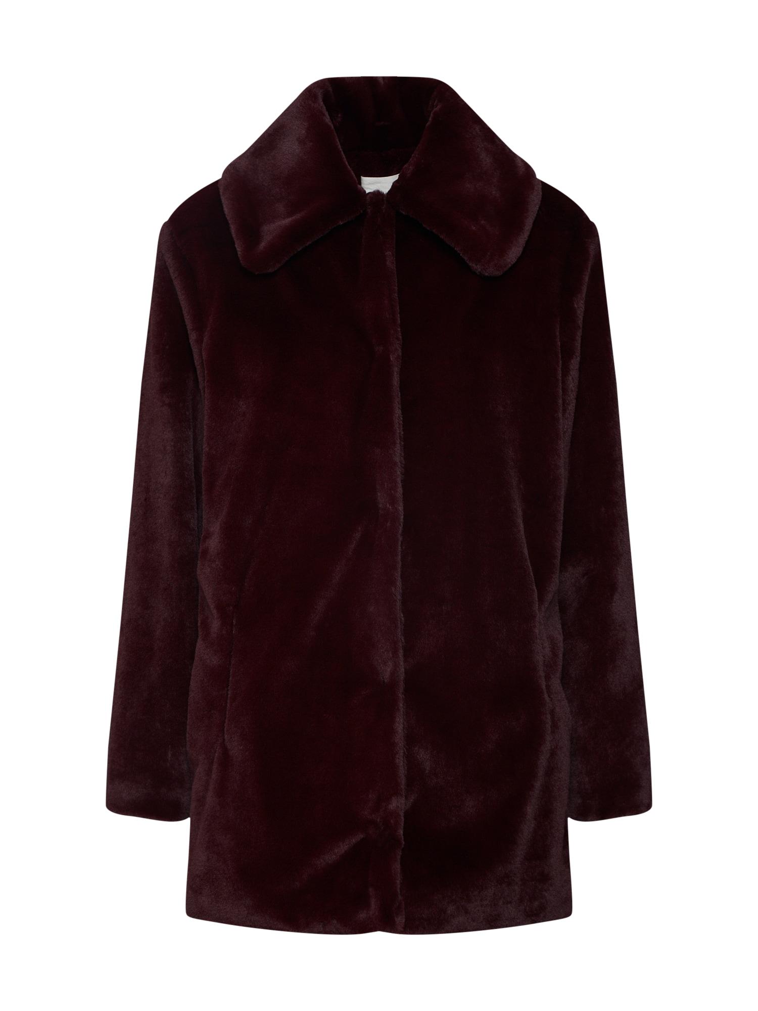 Levete Room Rudeninis-žieminis paltas 'CARLA 1' vyno raudona spalva