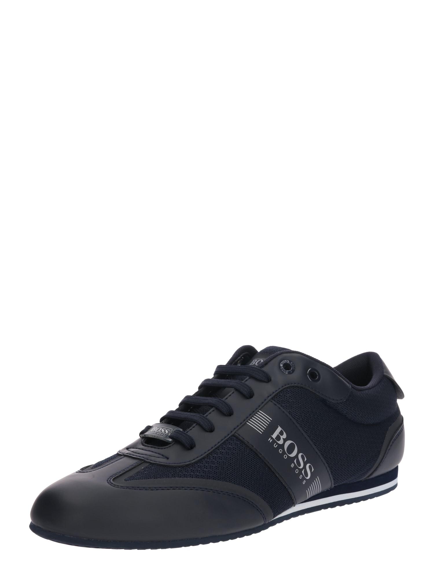 BOSS Sportinio stiliaus batai su raišteliais 'Lighter' nakties mėlyna