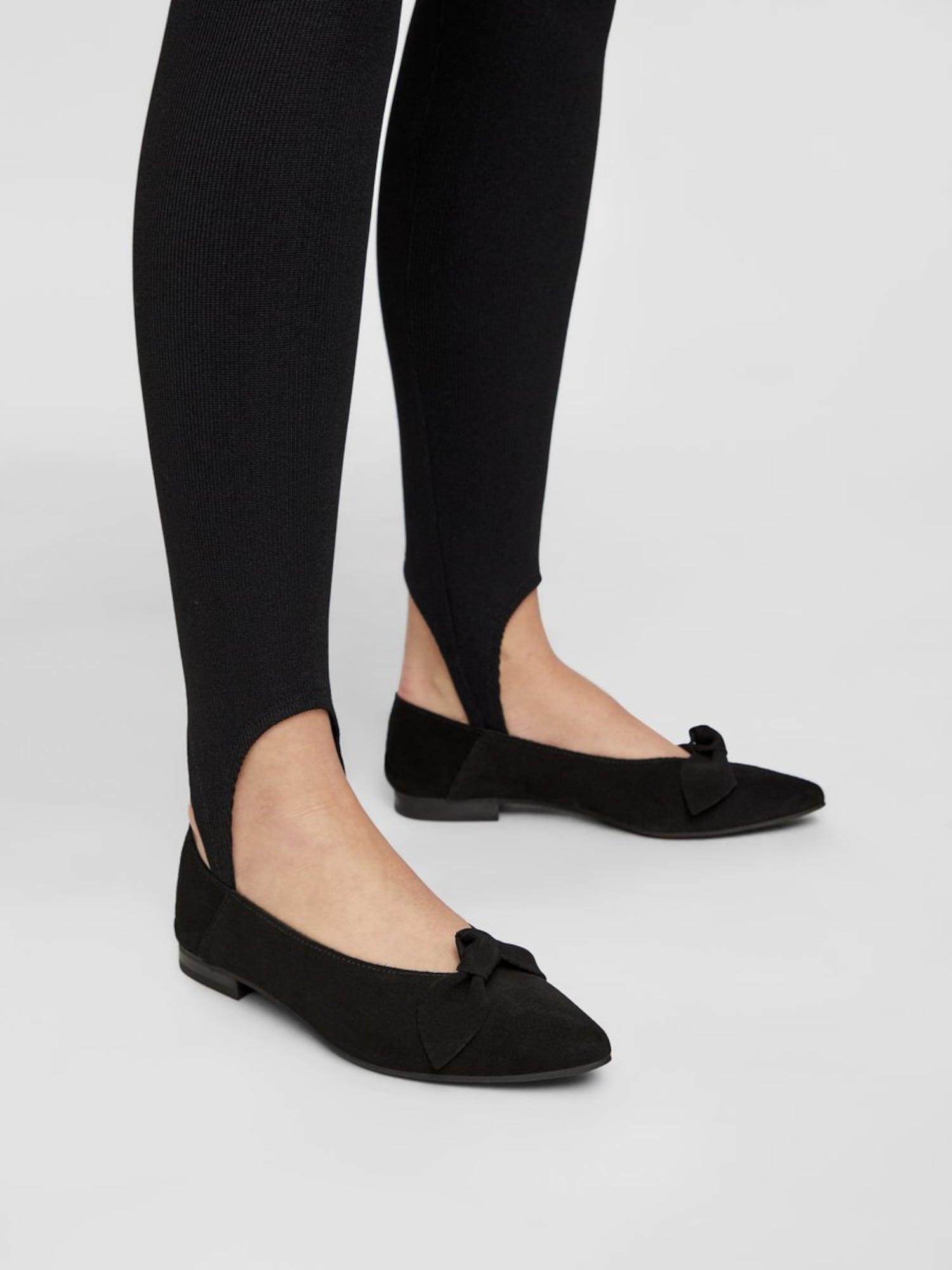Bianco, Damen Ballerina Berna, zwart