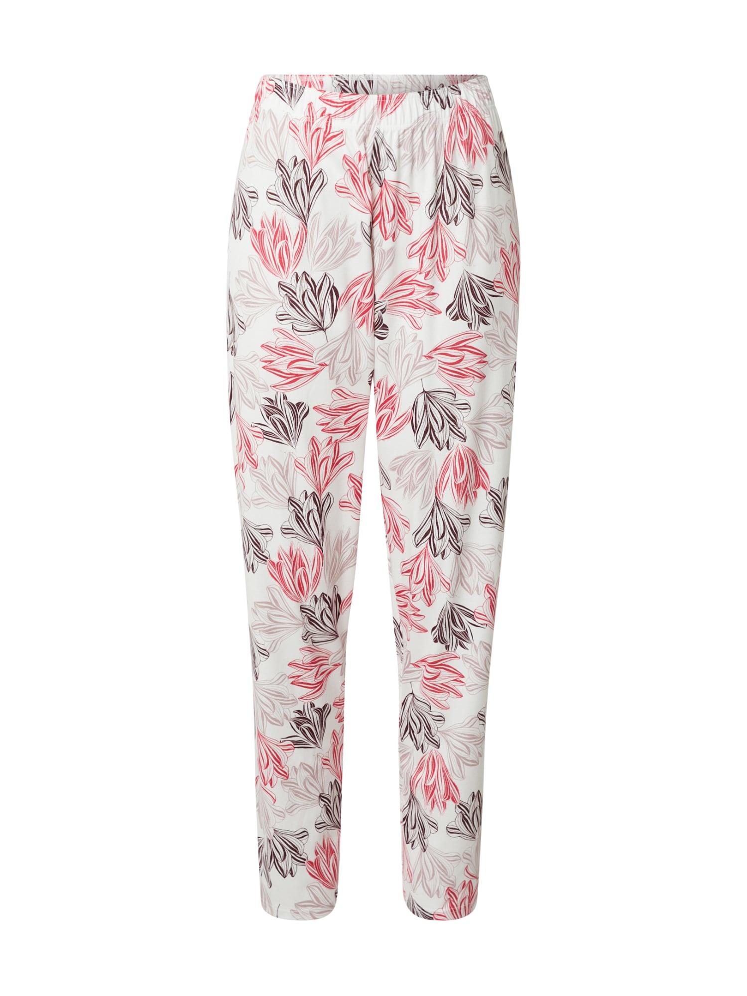 CALIDA Pižaminės kelnės rožinė / natūrali balta / rožių spalva