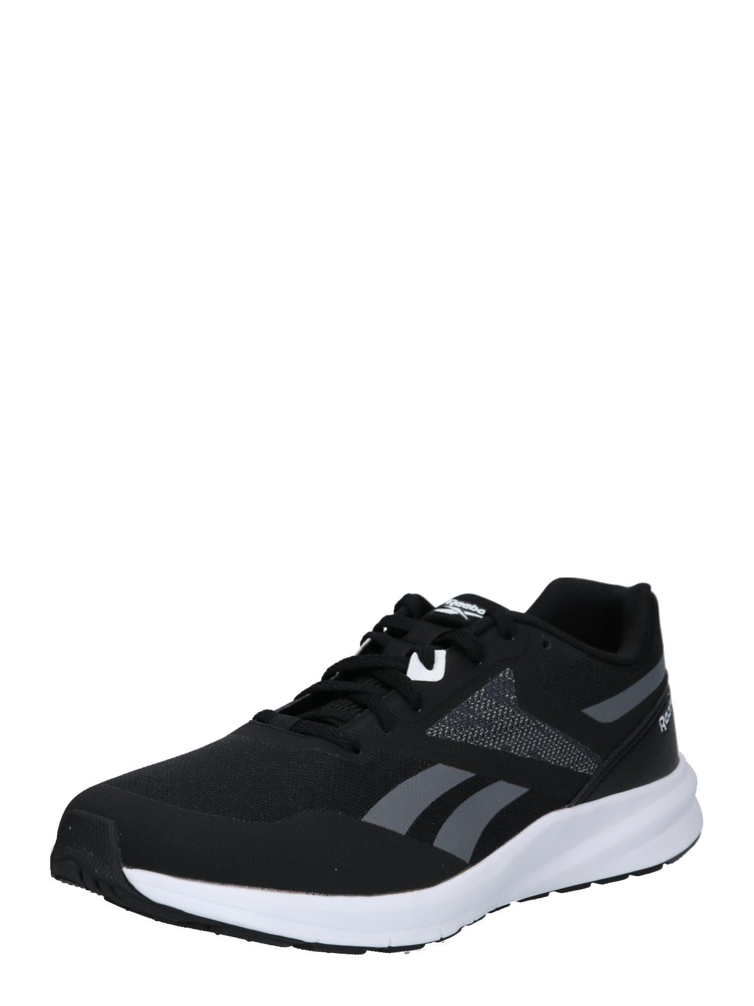 REEBOK Bėgimo batai juoda / pilka