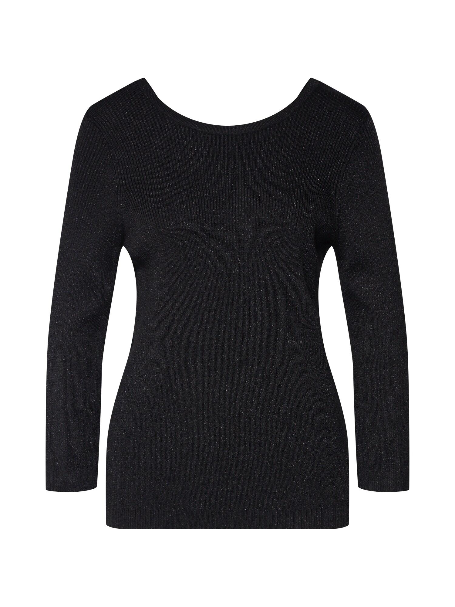 OBJECT Marškinėliai 'OBJBROOKLYN RIB 3/4 KNIT TOP' juoda