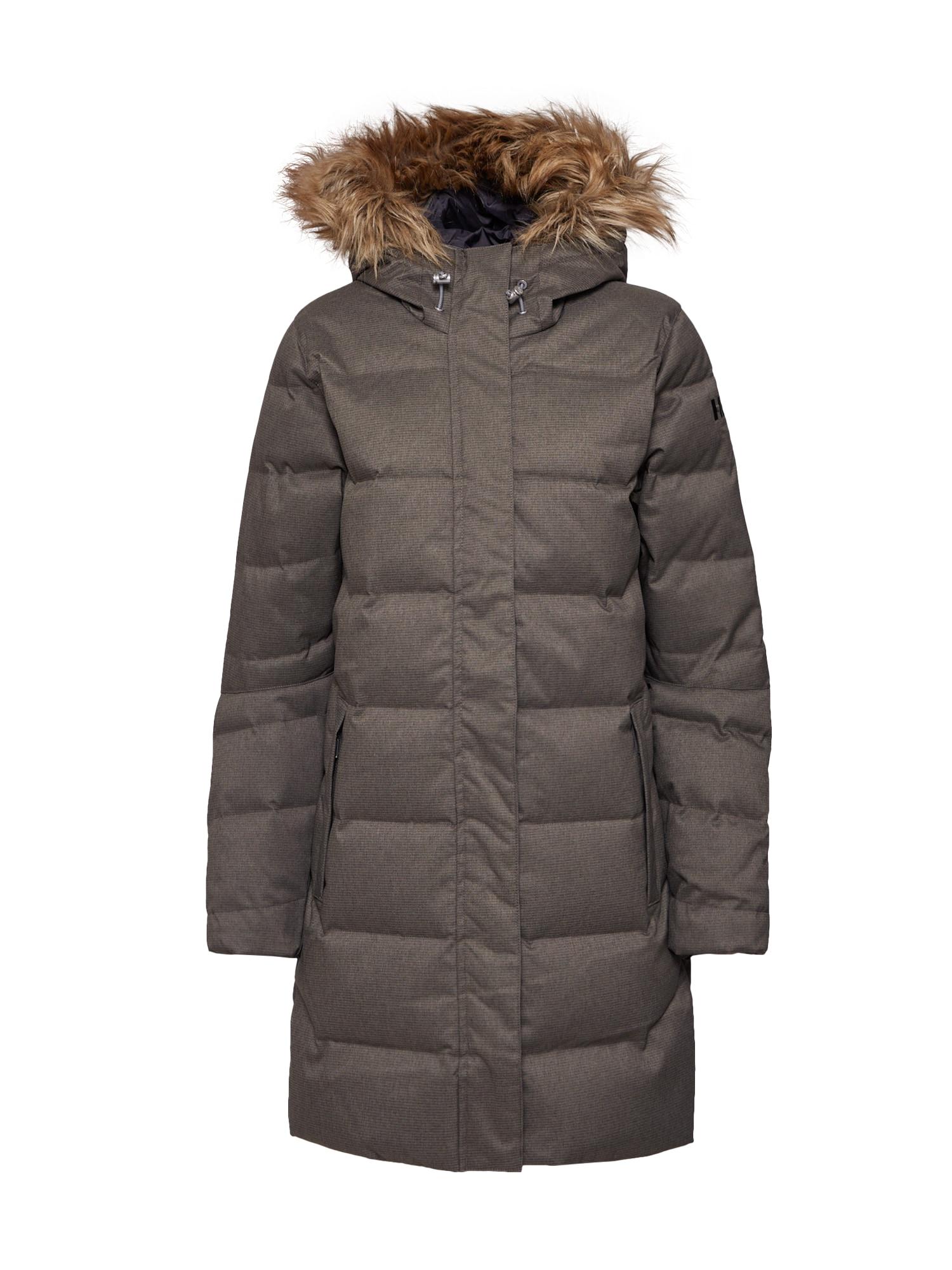 HELLY HANSEN Ilga žieminė striukė šviesiai ruda / rusvai pilka