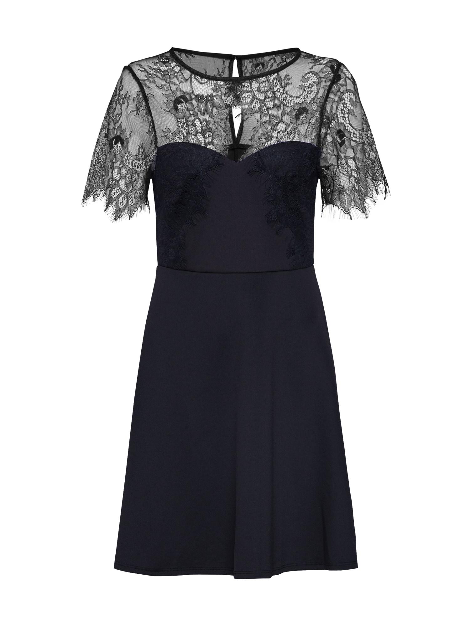 Koktejlové šaty černá Dorothy Perkins