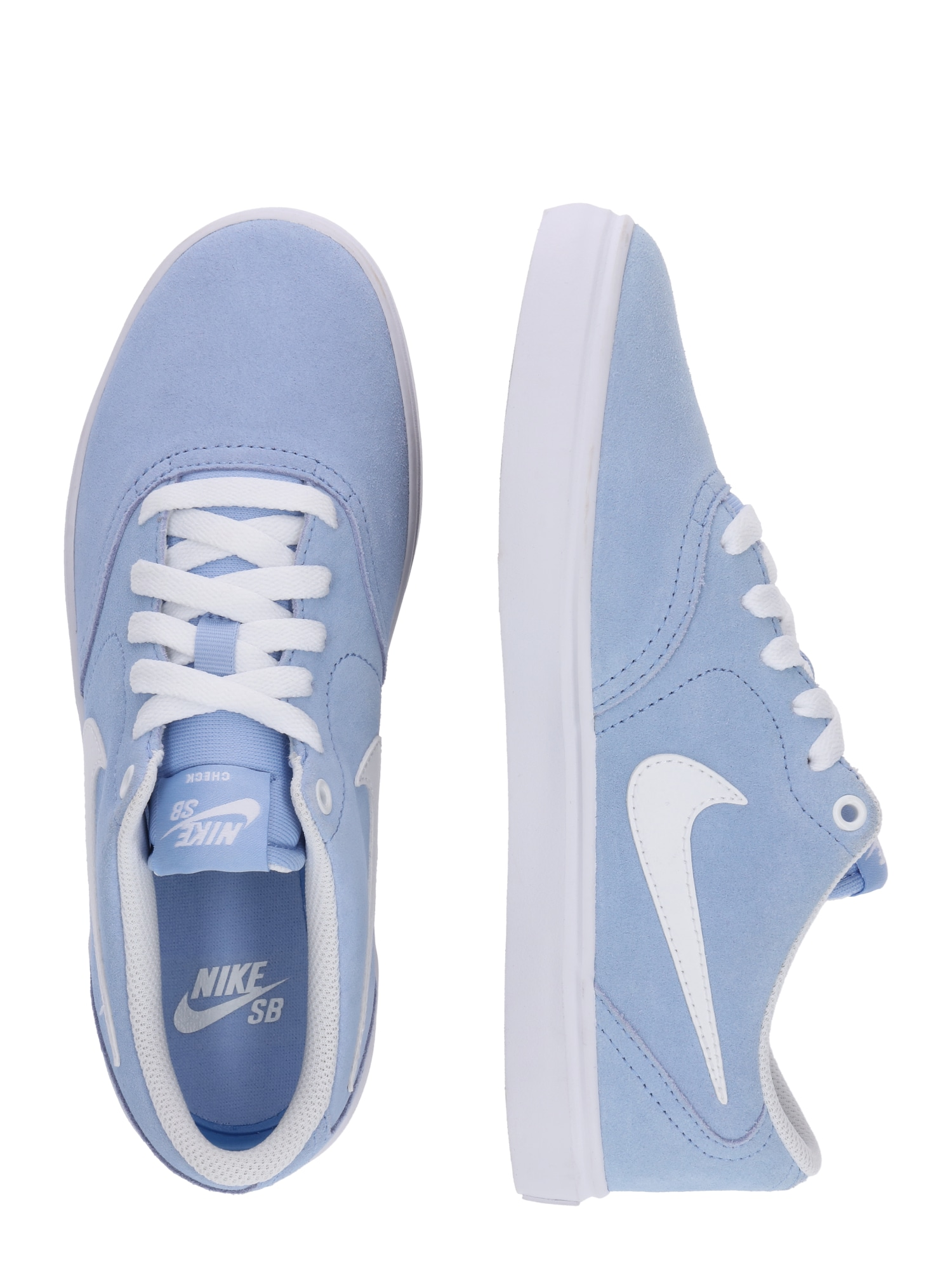 Nike SB, Damen Sneakers laag Check Solar, lichtblauw / wit