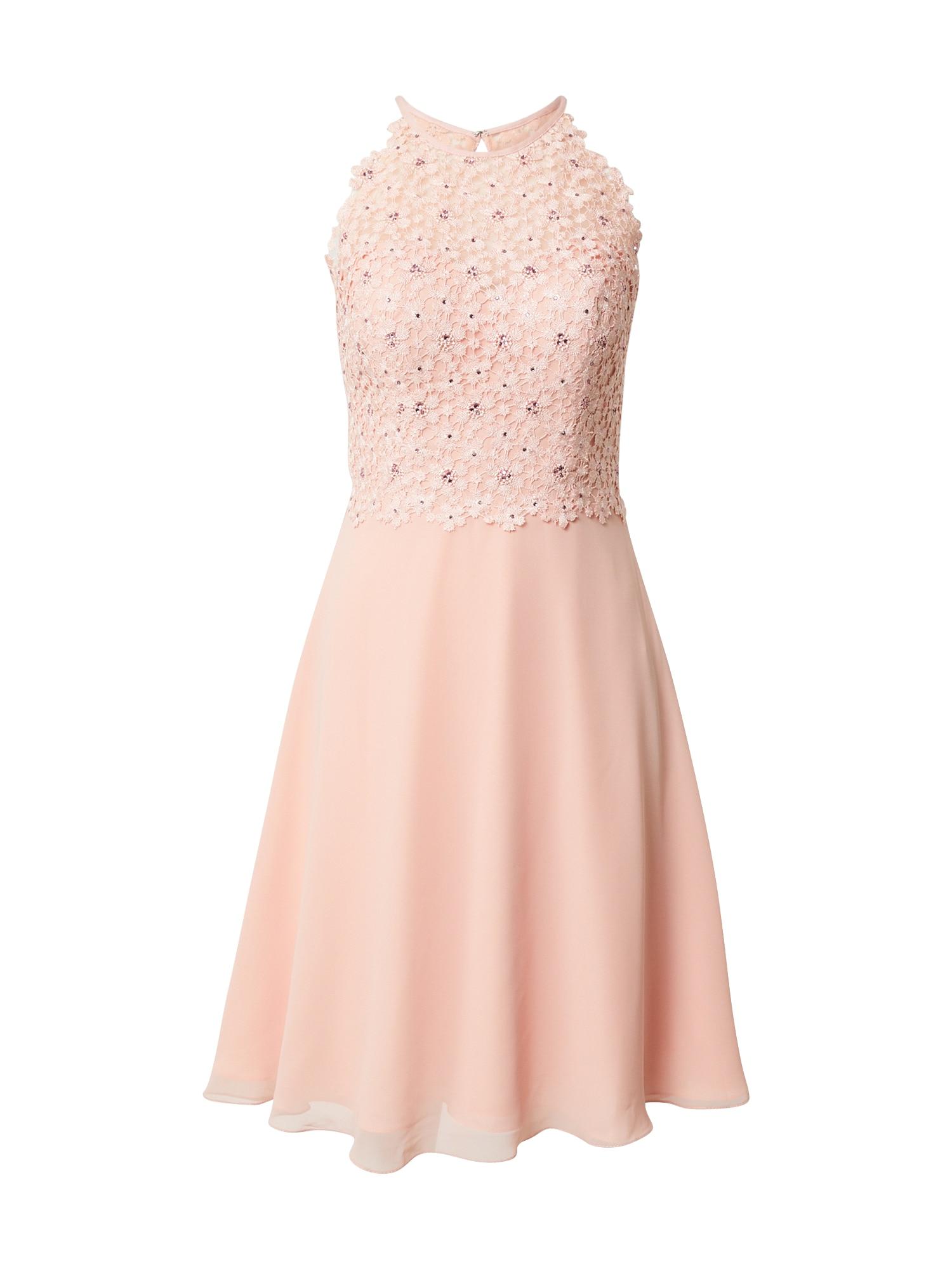 LUXUAR Kokteilinė suknelė rožių spalva