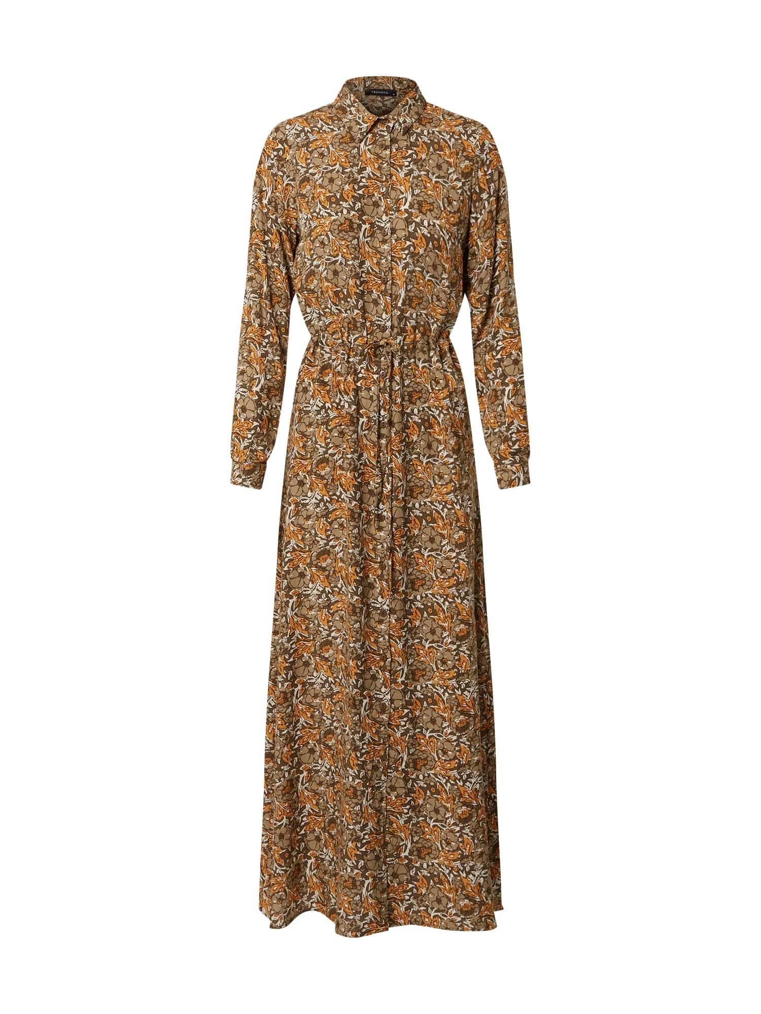 Trendyol Palaidinės tipo suknelė smėlio / ruda / ruda (konjako) / balta