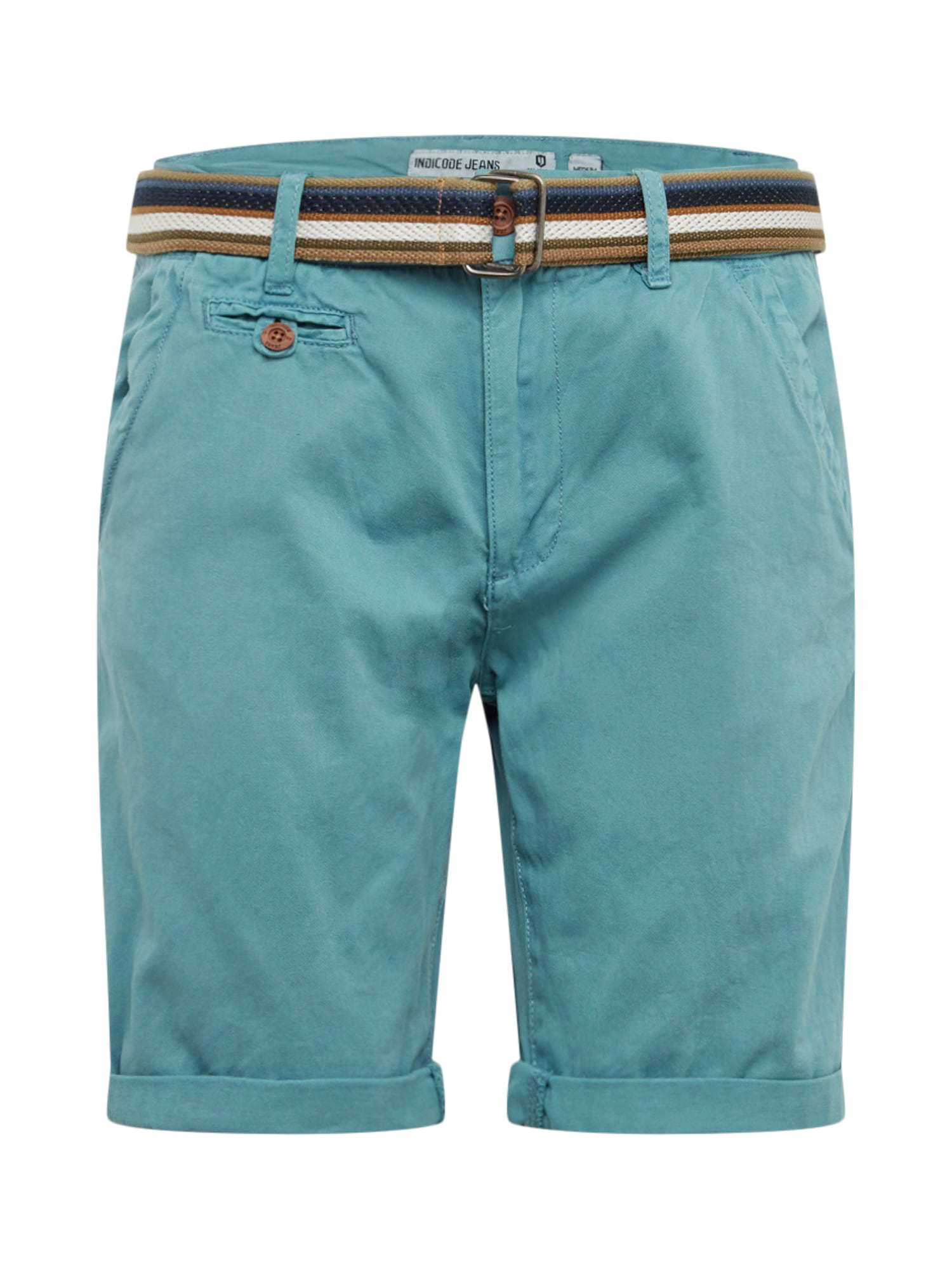 INDICODE JEANS Chino stiliaus kelnės 'Royce' šviesiai mėlyna
