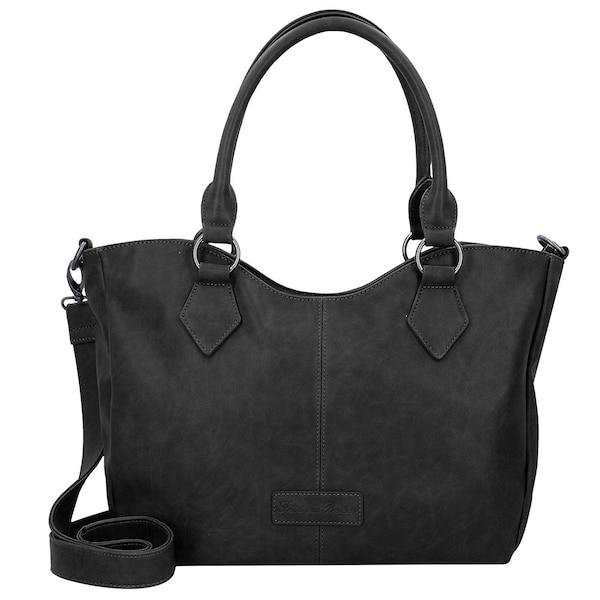 Shopper für Frauen - Fritzi Aus Preußen 'Beatrisa' Nubuck Shopper Tasche 36 cm schwarz  - Onlineshop ABOUT YOU