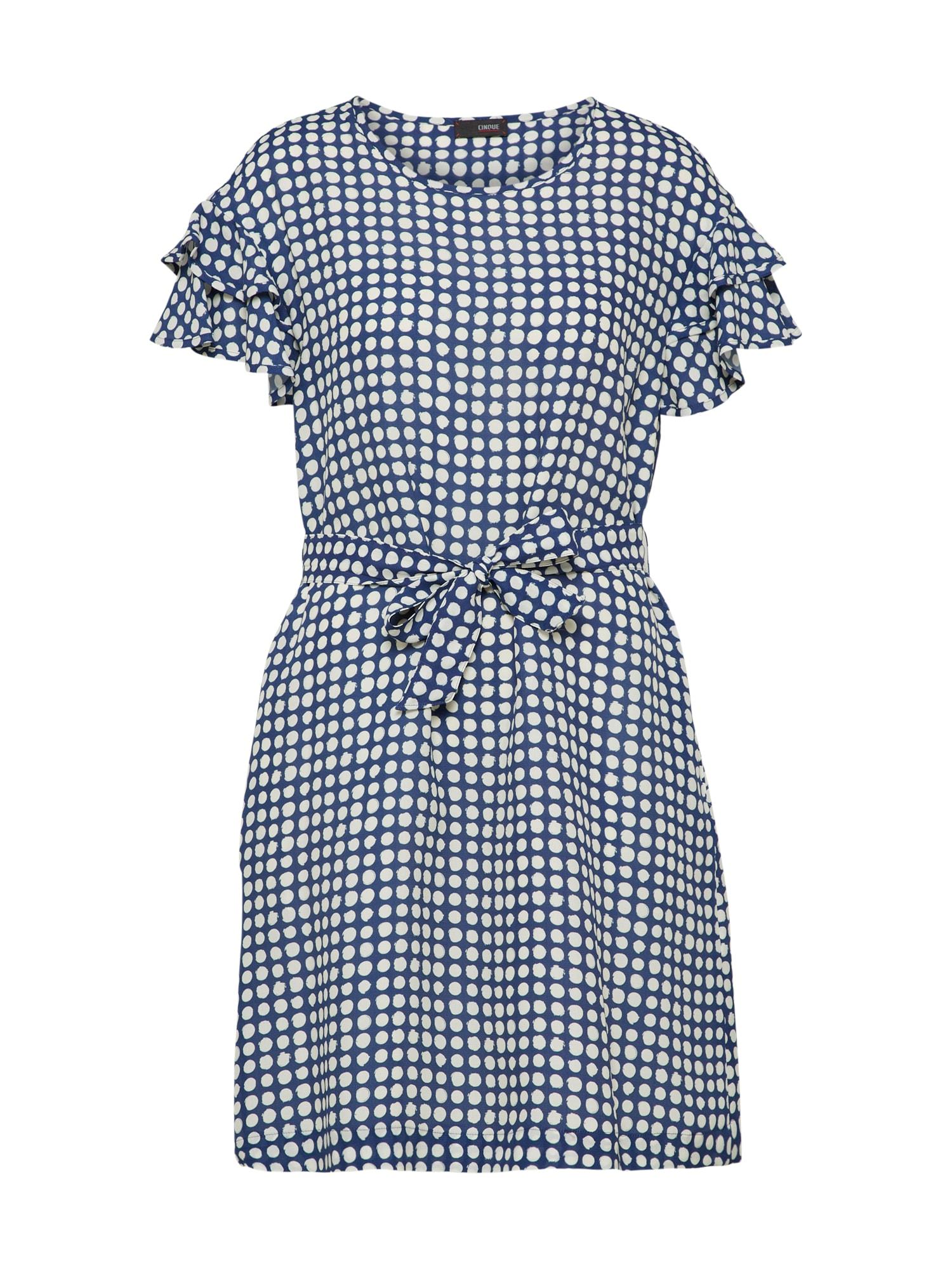 Koktejlové šaty CITEENA námořnická modř bílá CINQUE