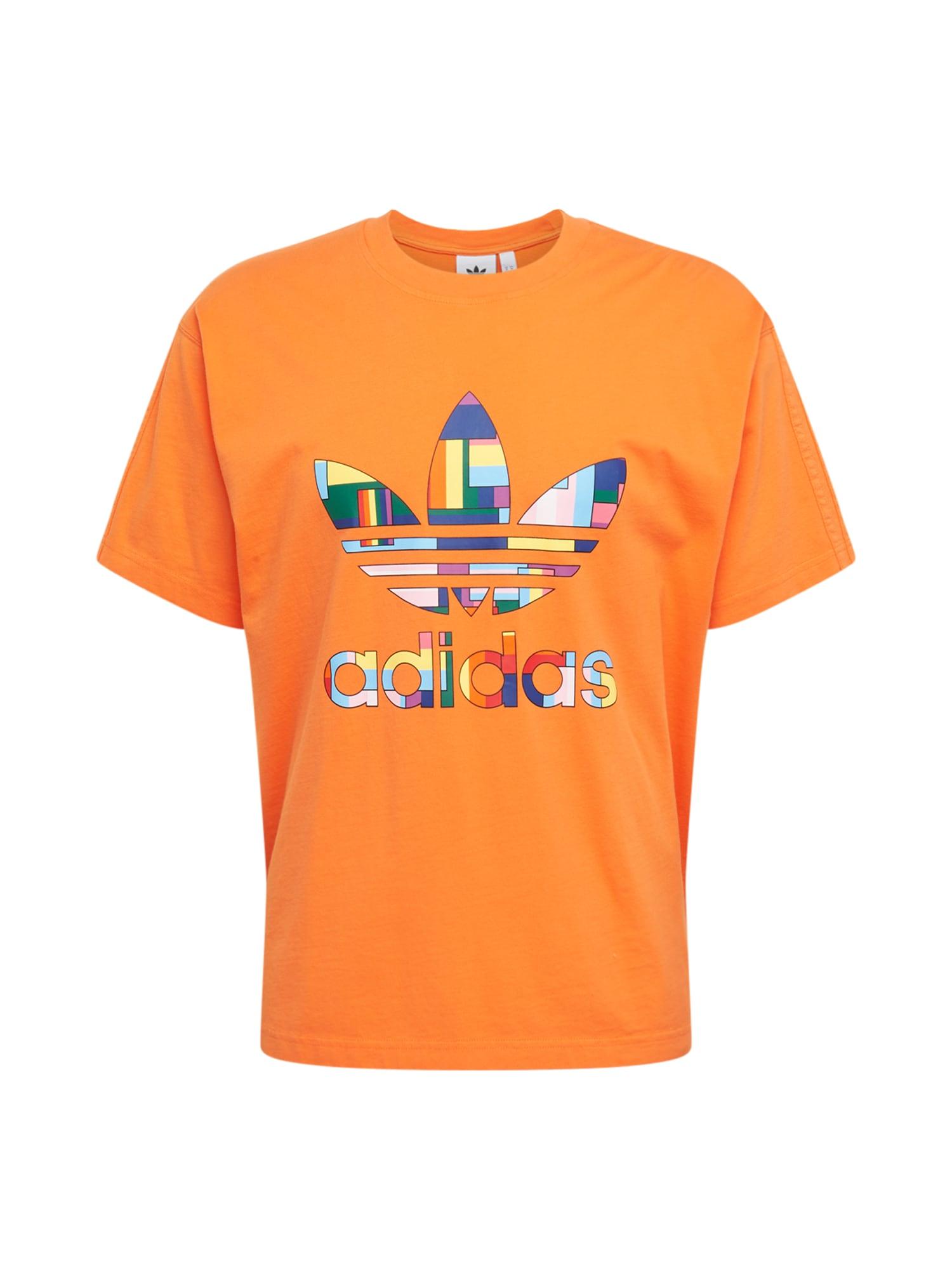 ADIDAS ORIGINALS Tričko  oranžová / zmiešané farby