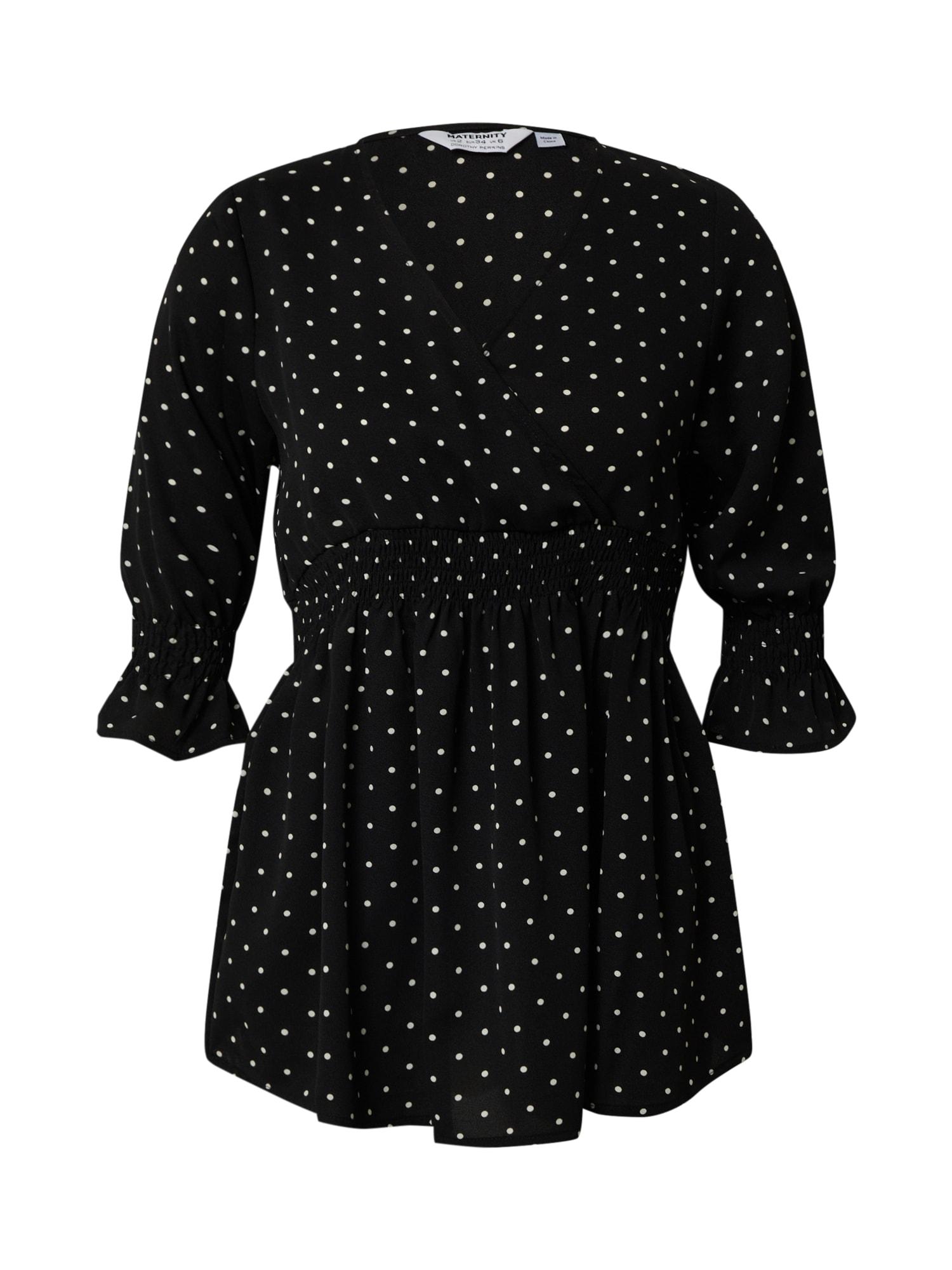 Dorothy Perkins Marškinėliai 'Maternity Black Spot' juoda