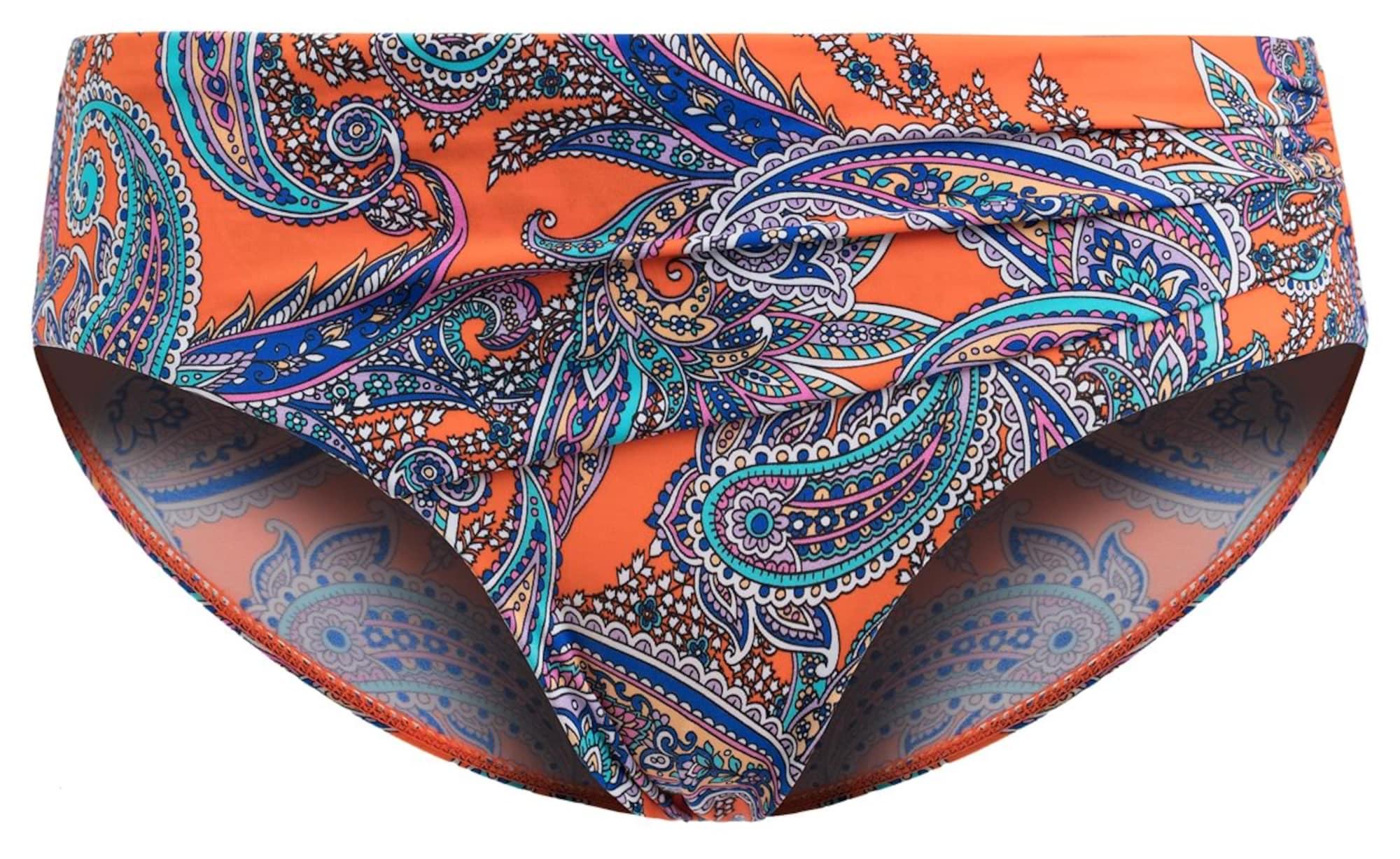 Spodní díl plavek PAISLEY SUNSET světlemodrá tmavě modrá oranžová PALMERS
