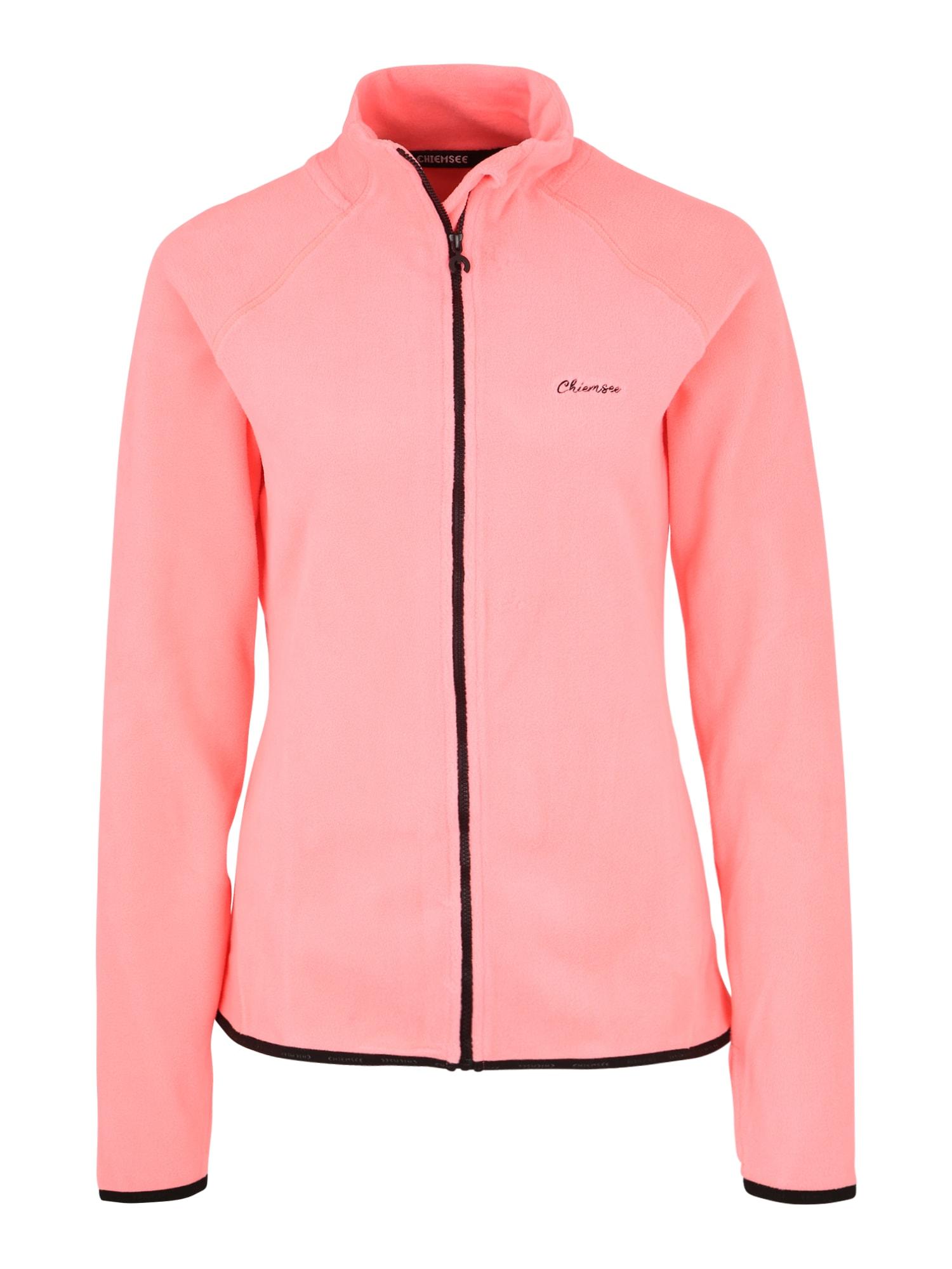 CHIEMSEE Sportinio tipo megztinis neoninė rožinė