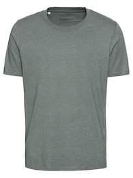 SELECTED HOMME Herren T-Shirt SHDTHEPERFECT MELANGE SS O-NECK grün,olive | 05713727390570