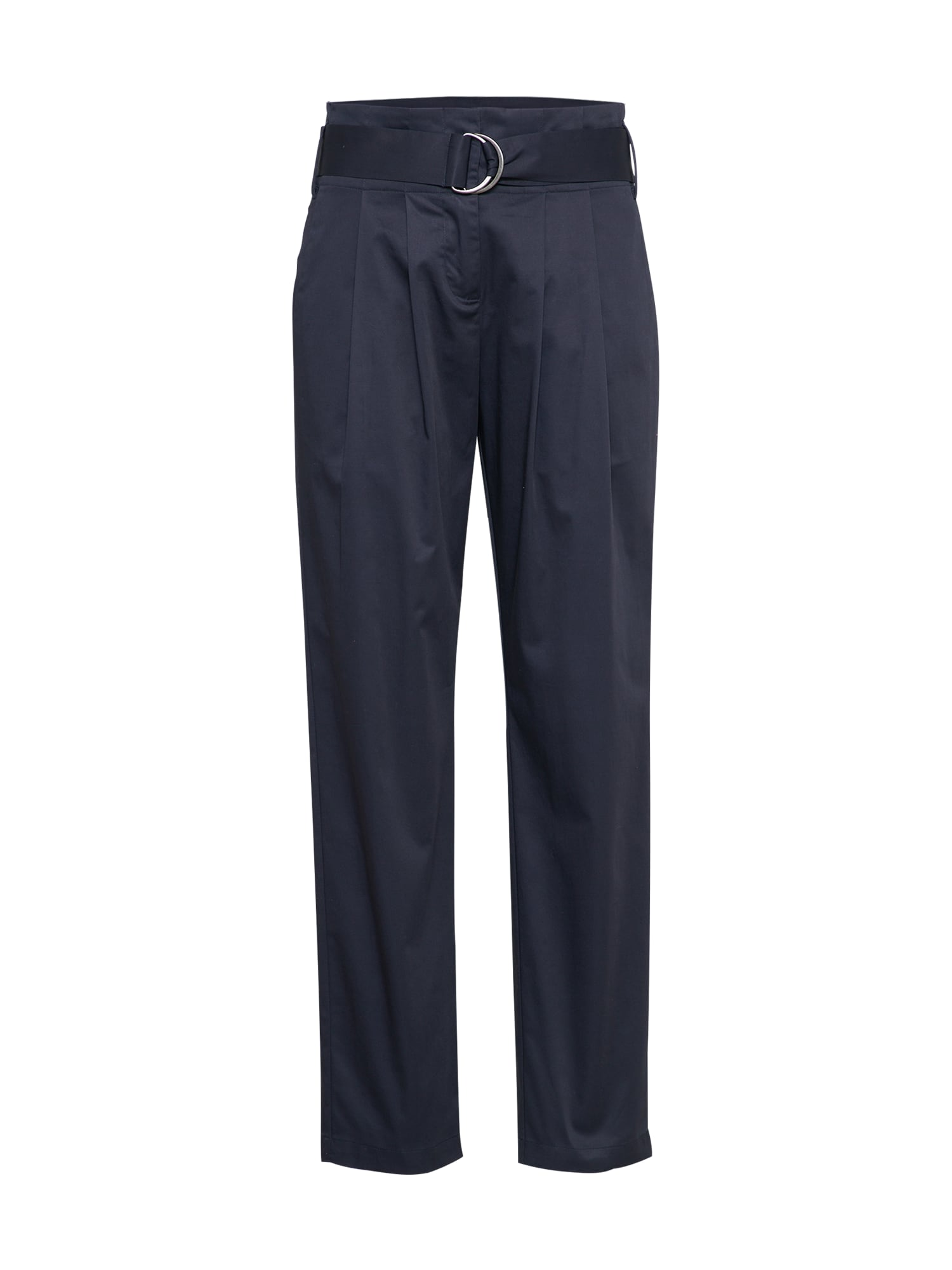 Kalhoty se sklady v pase tmavě modrá SAINT TROPEZ