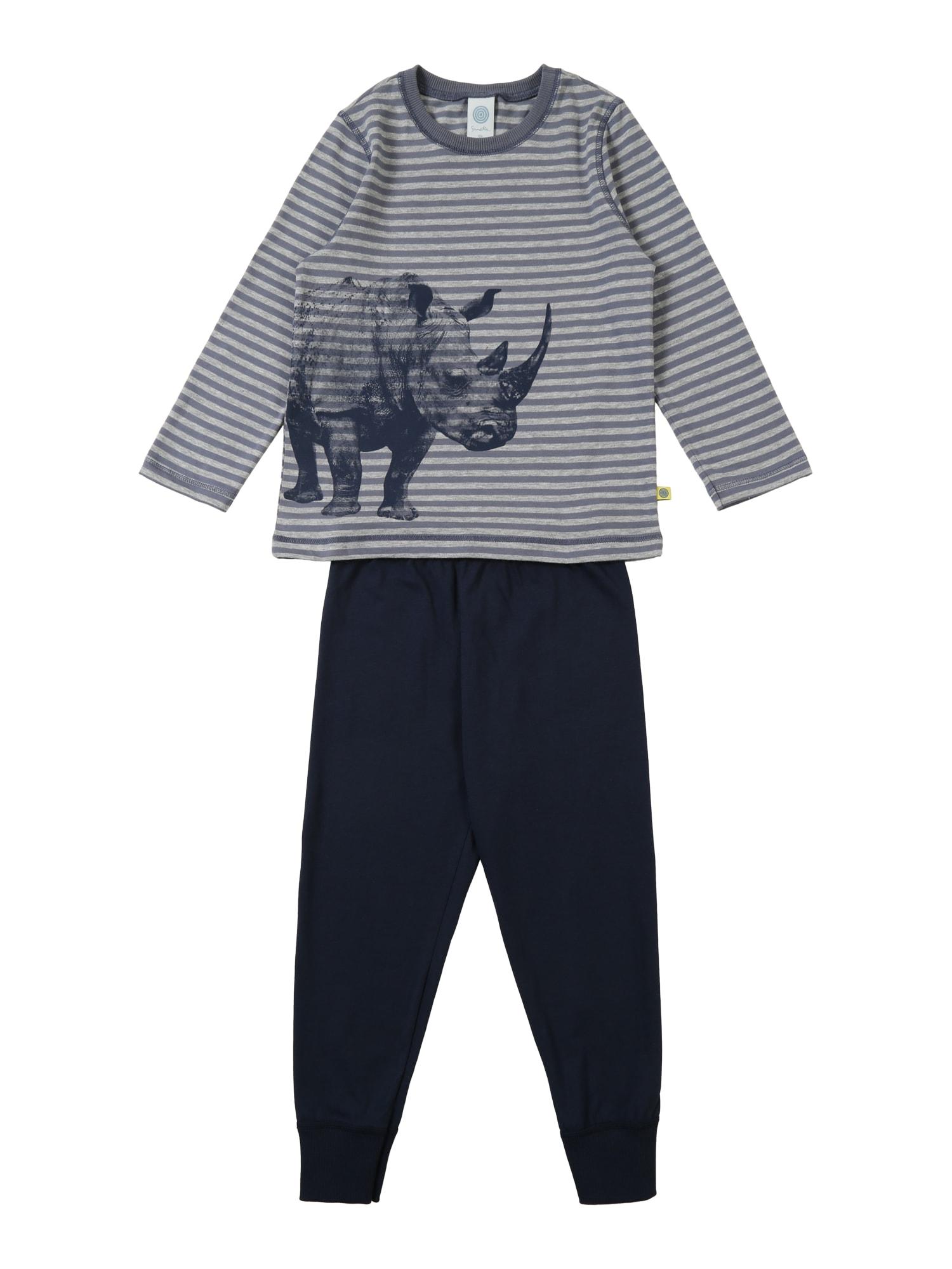 Pyžamo noční modrá šedá SANETTA