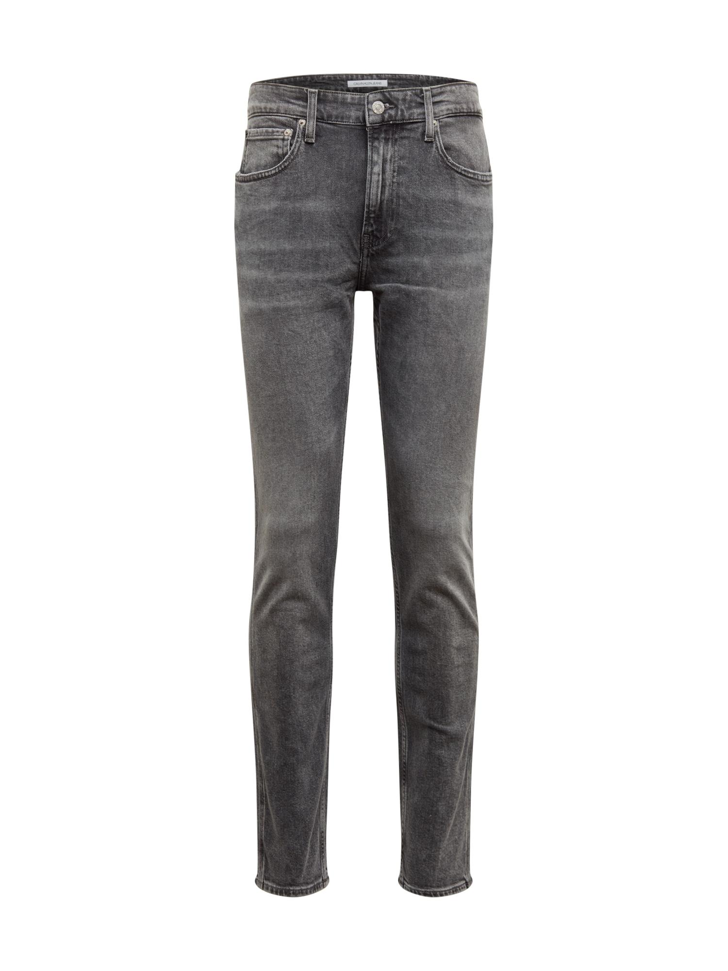 Džíny 058 SLIM TAPER šedá džínová Calvin Klein Jeans